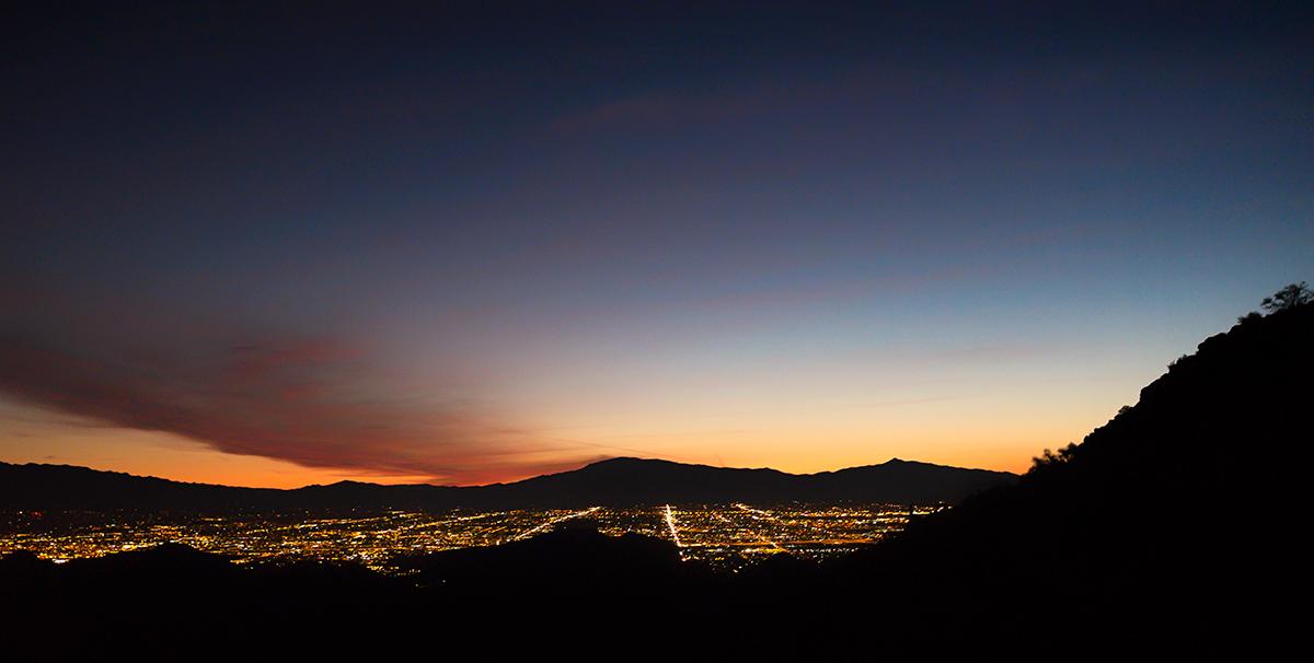 First Light Over Tucson. Golden Gate Mountain, Arizona, 2015