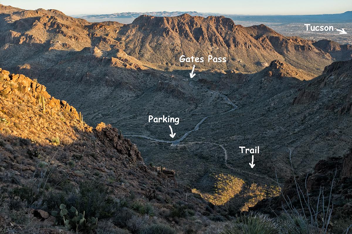 Bird's Eye View. From Golden Gate Mountain, Arizona, 2015