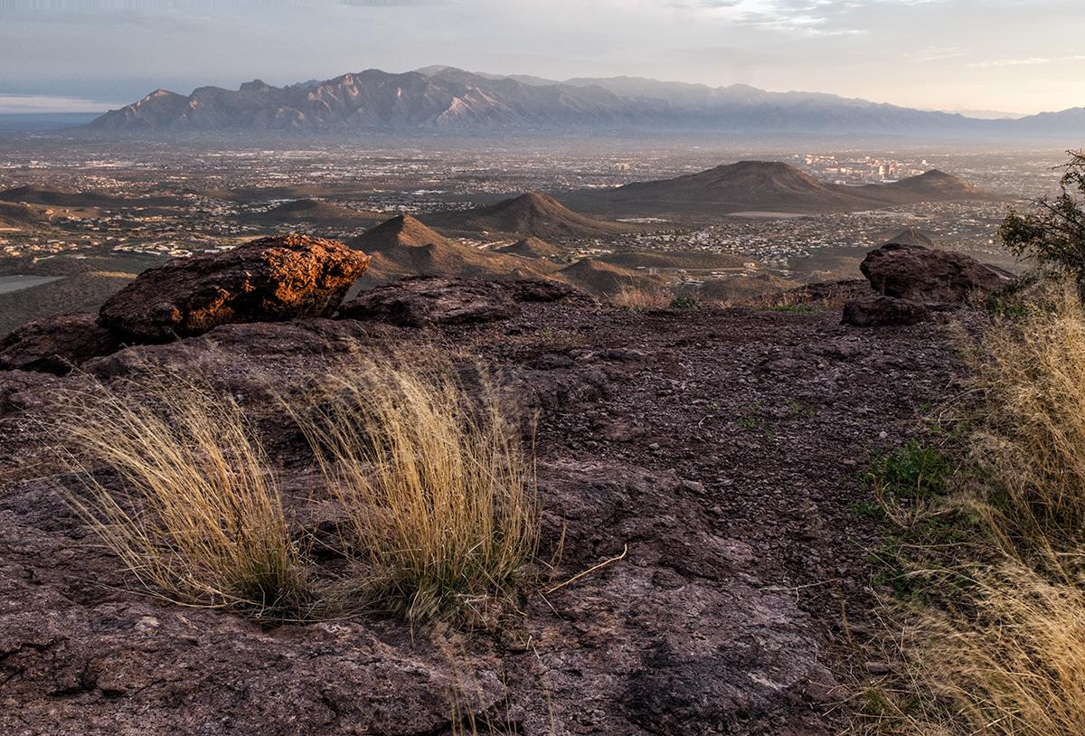 Tucson and the Santa Catalinas. From Cat Mountain, Arizona, 2015
