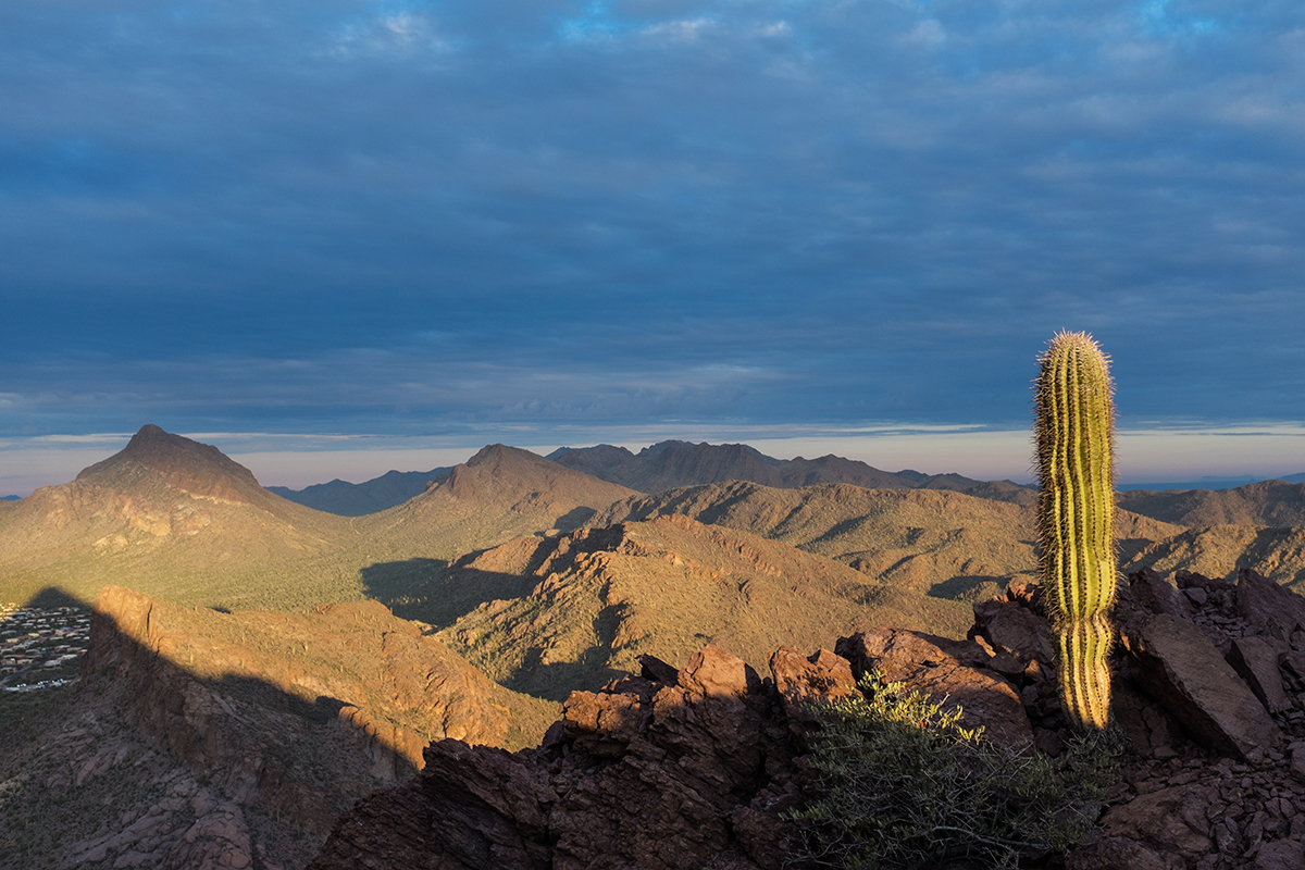 Tucson Mountains and Shadow, #2. From Cat Mountain, Arizona, 2015