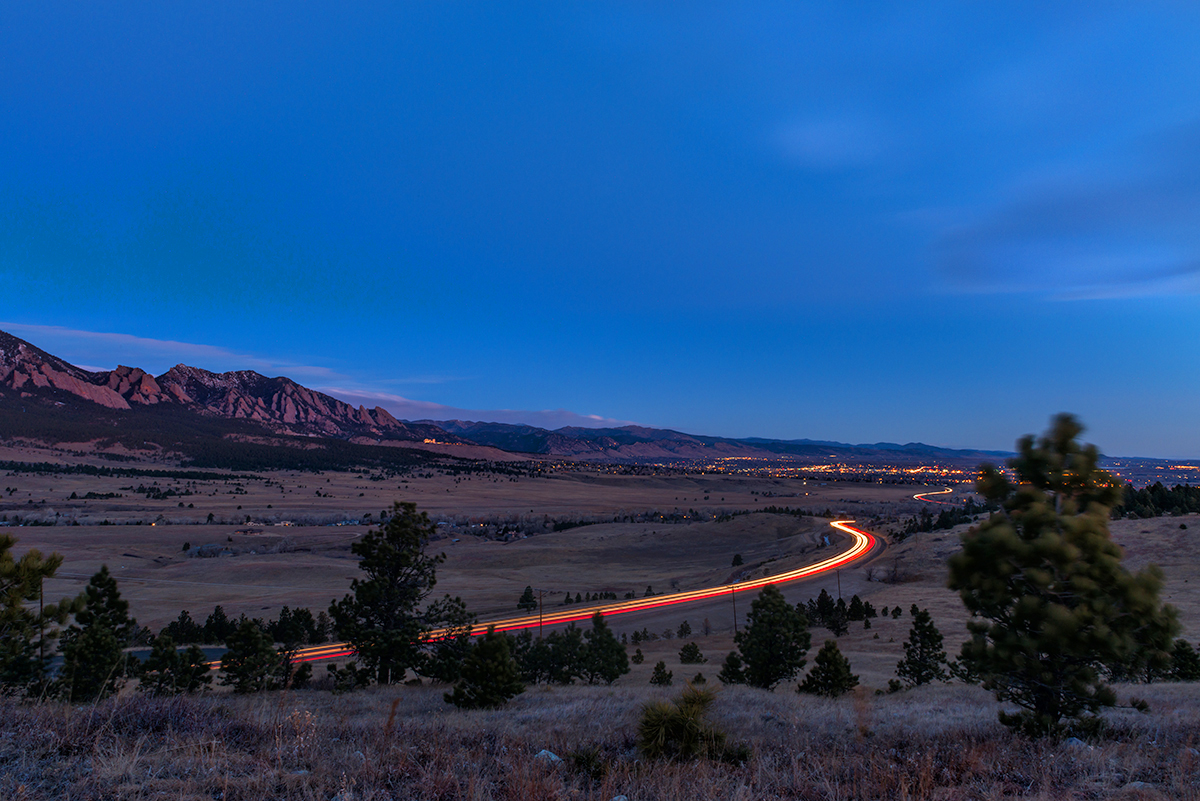 Hwy 93 Morning Rush Hour. Boulder, Colorado (Even spammers have to go to work...)