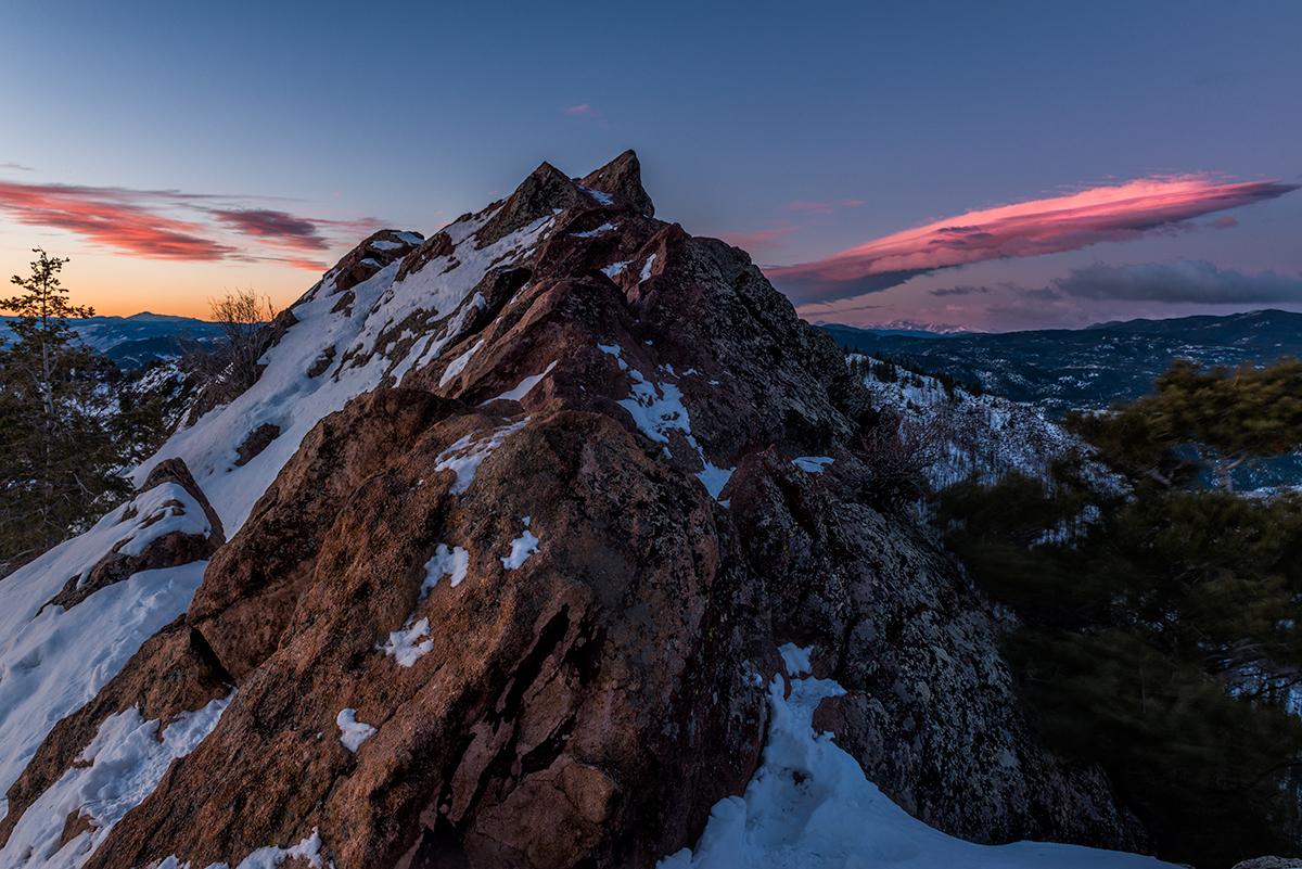 Last Steps to the Summit. Bear Peak, Colorado, 2015