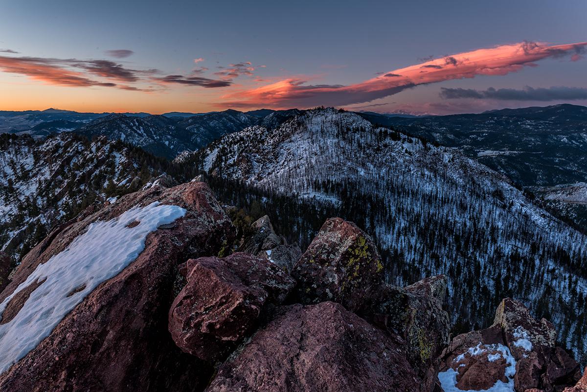 Pikes-Bear-Evans. Bear Peak, Colorado, 2015