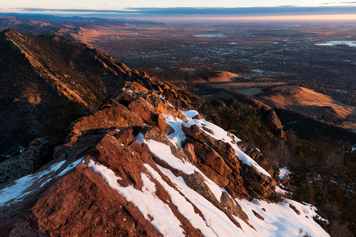 Boulder View. From Bear Peak, Colorado, 2015