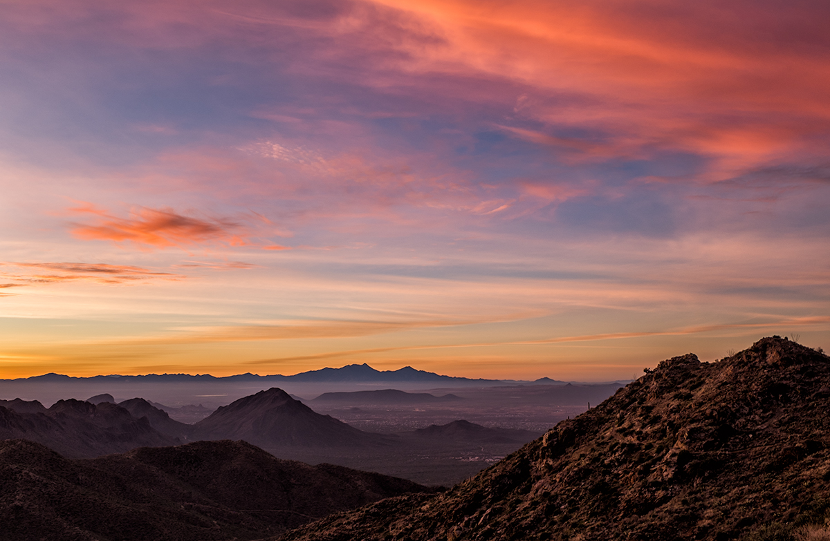 The View to the South. From Wasson Peak, Arizona, 2015