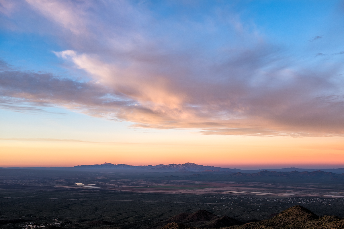 The View to the Southwest. From Wasson Peak, Arizona, 2015