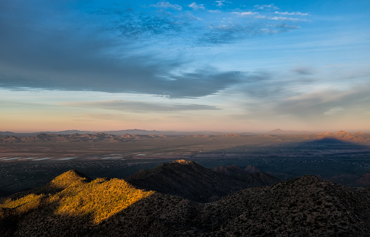 The View West. From Wasson Peak, Arizona, 2015