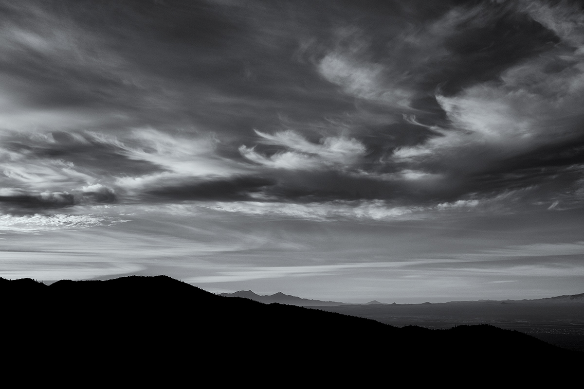 Mt Wrightson and Cloudscape. From Wasson Peak area, Arizona, 2015
