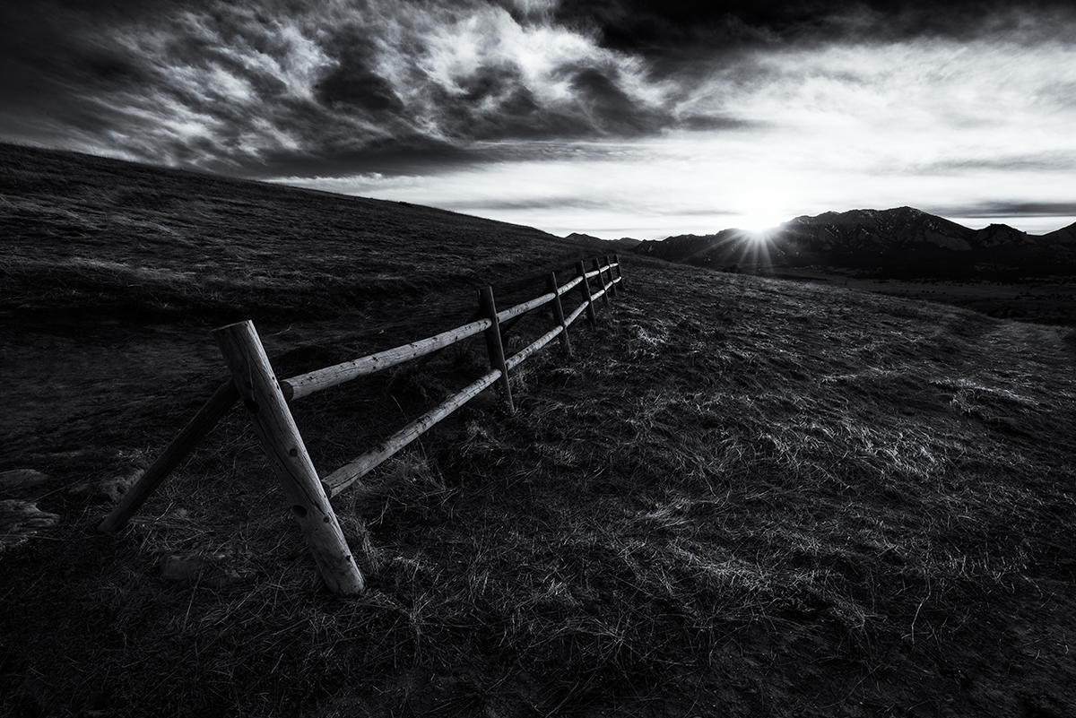 Fence to the Sun. Marshall Mesa, Boulder, Colorado, 2015