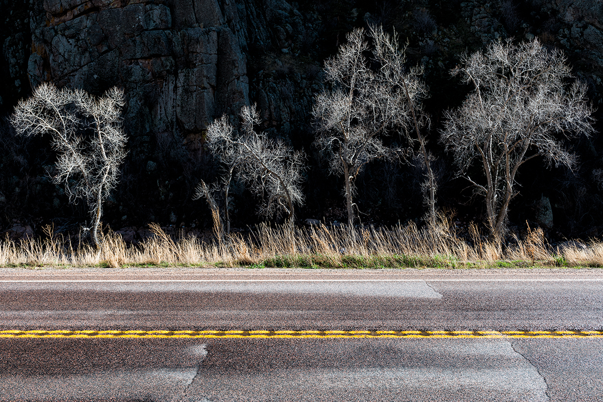 Roadside Light and Shadow. South St. Vrain Canyon, Colorado, 2015