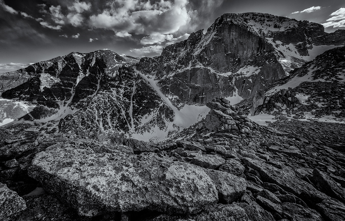 The Meeker-Longs Massif. From MLW, Colorado, 2015