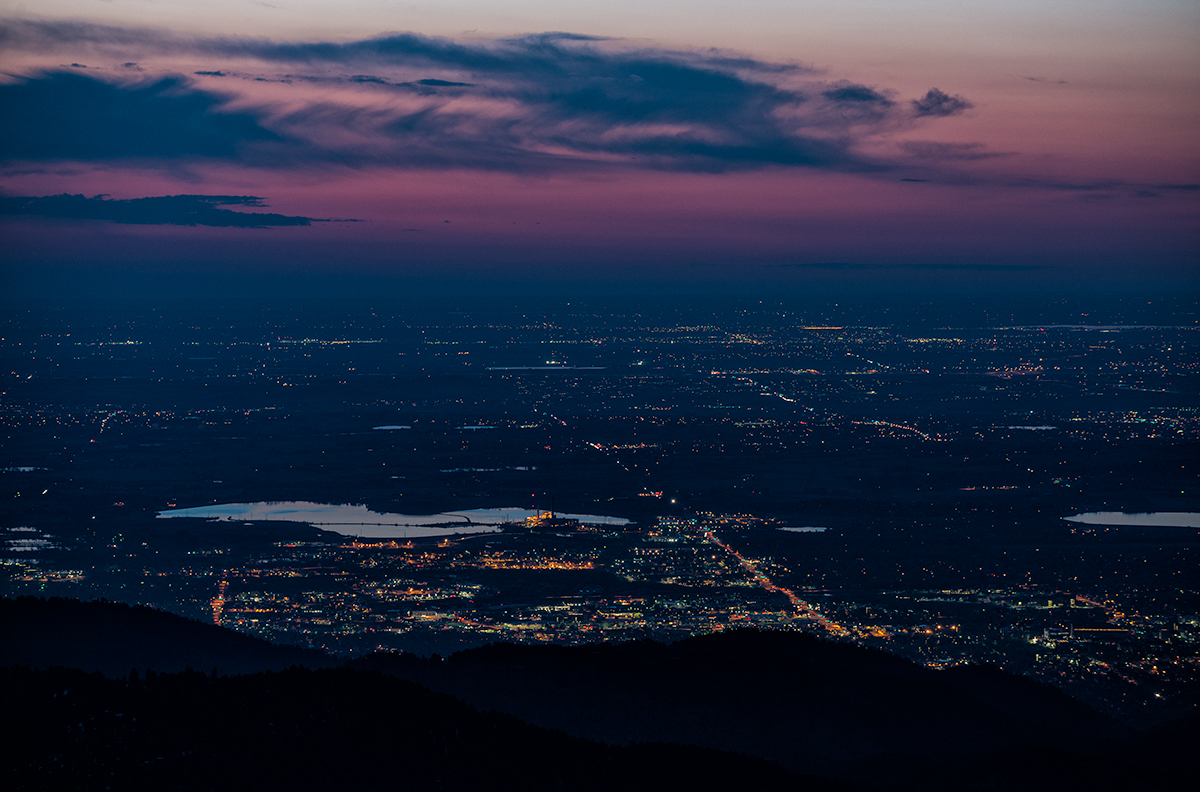 Pink Dawn Over Boulder. From Sugarloaf Mountain, Colorado, 2015