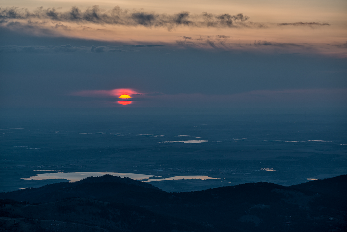 Sunrise. From Sugarloaf Mountain, Colorado, 2015