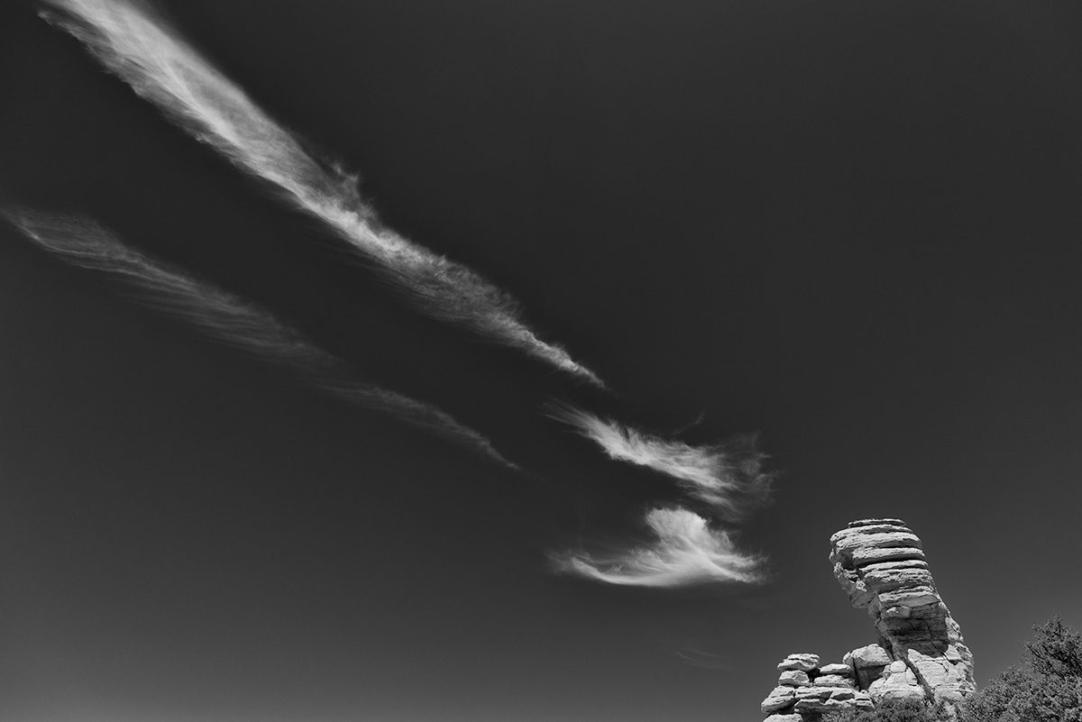 Windy Point, Cloud and Rock. Mt. Lemmon, Arizona, 2015
