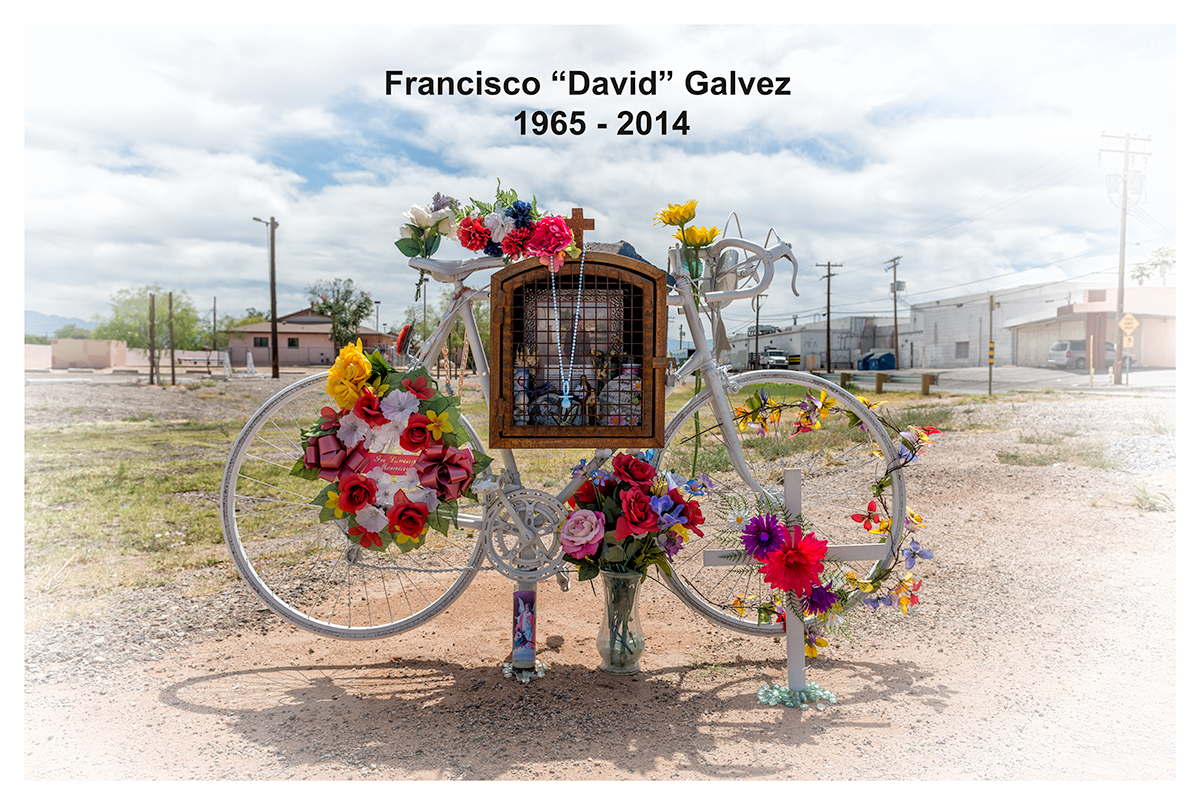"""David Galvez"" Memorial. Tucson, Arizona, 2015"