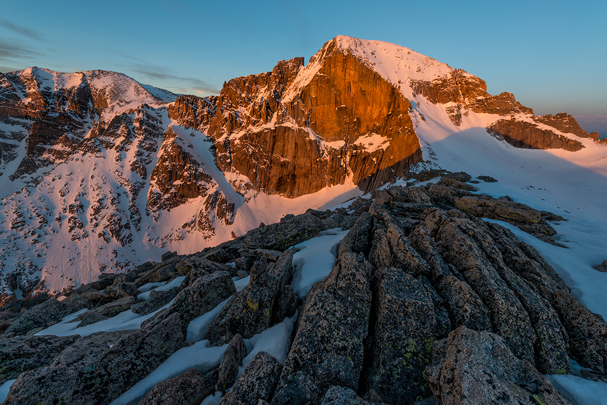 Longs Peak, First Light. MLW, Colorado, 2015