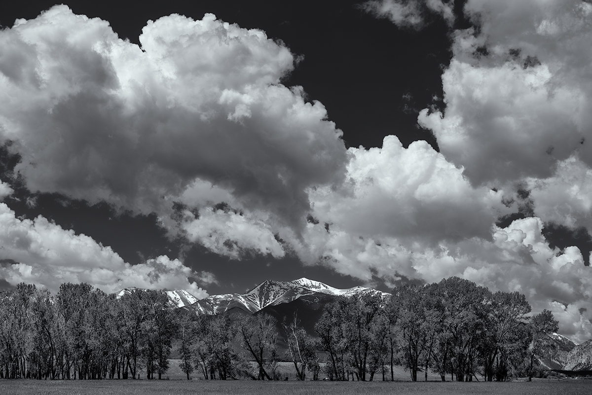 Portrait of Mount Antero. From the Arkansas River Valley, Colorado, 2015