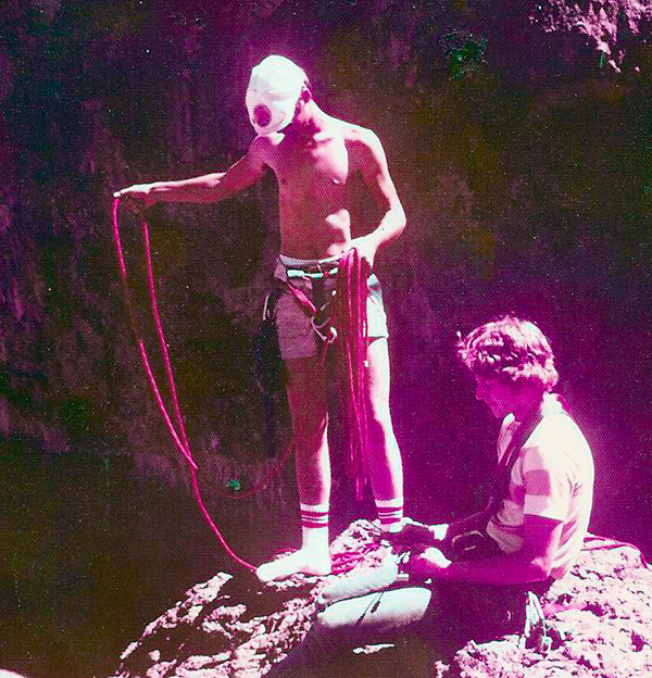 Rick and Dan, Crying Dinosaur, Arizona, late 1970s.