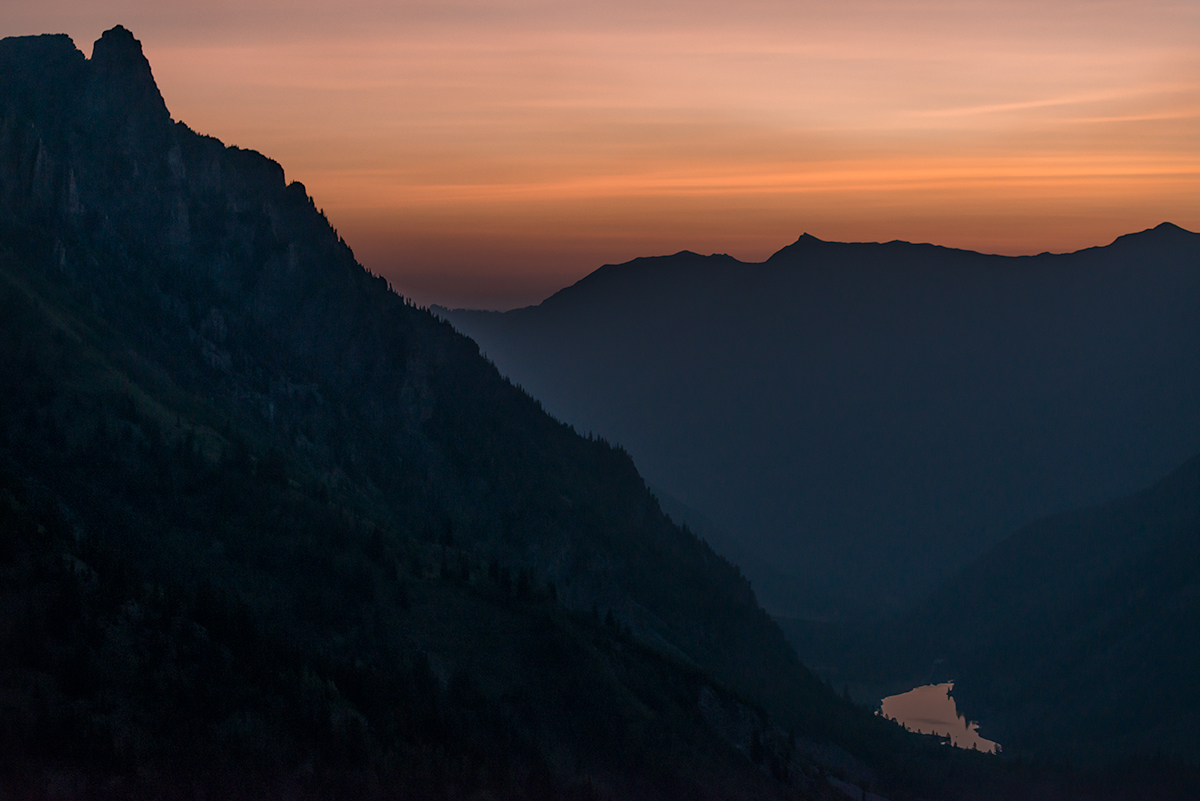 Approaching Dawn Above Maroon Lake. Colorado, 2015