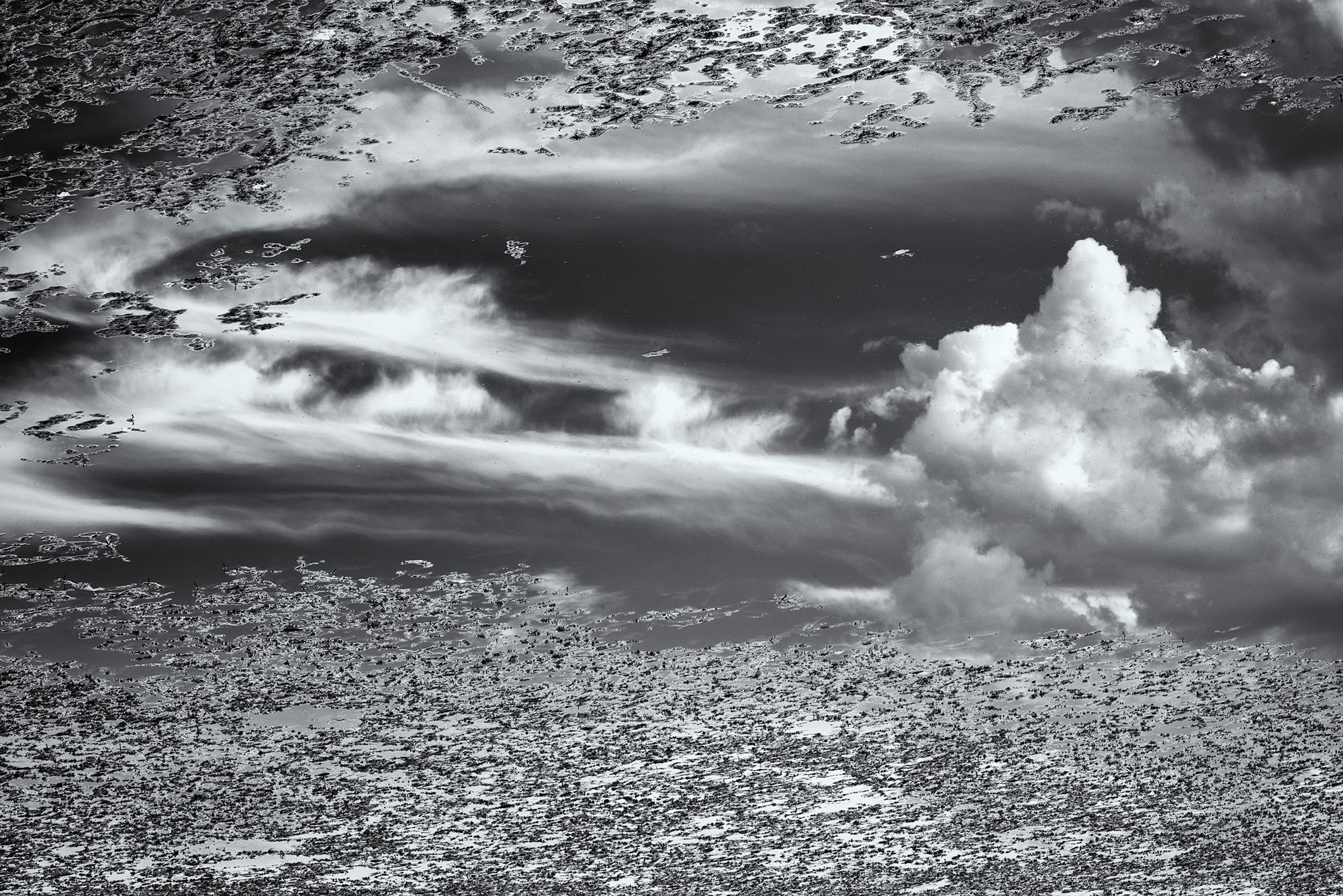 Clouds and Pond. Sawhill Ponds, Boulder, Colorado, 2015
