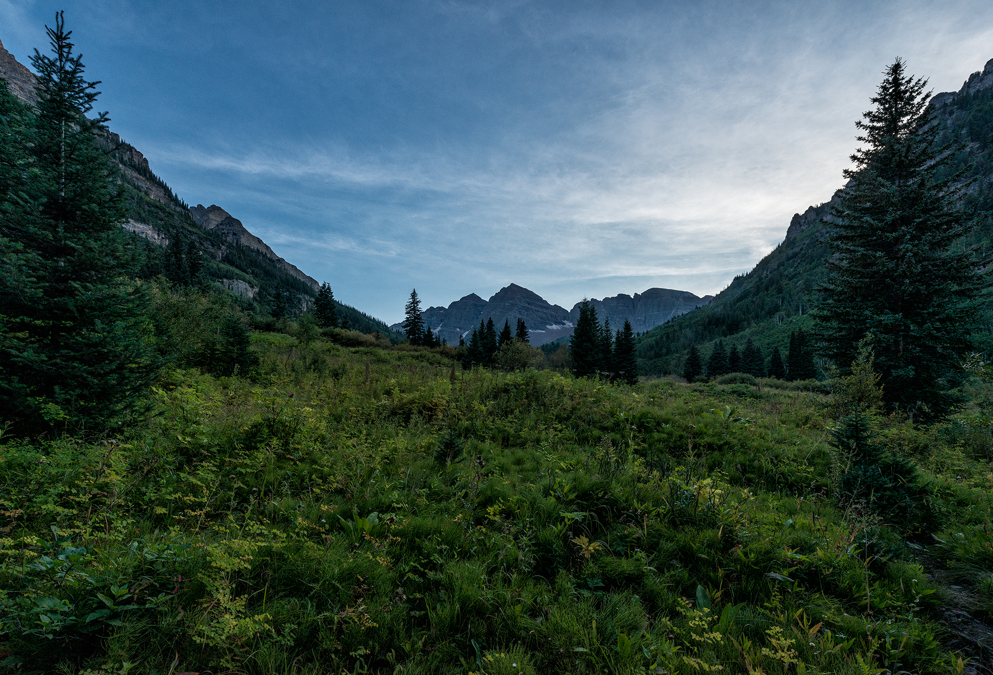 Maroon Bells View, Evening. Maroon Lake, Colorado, 2015