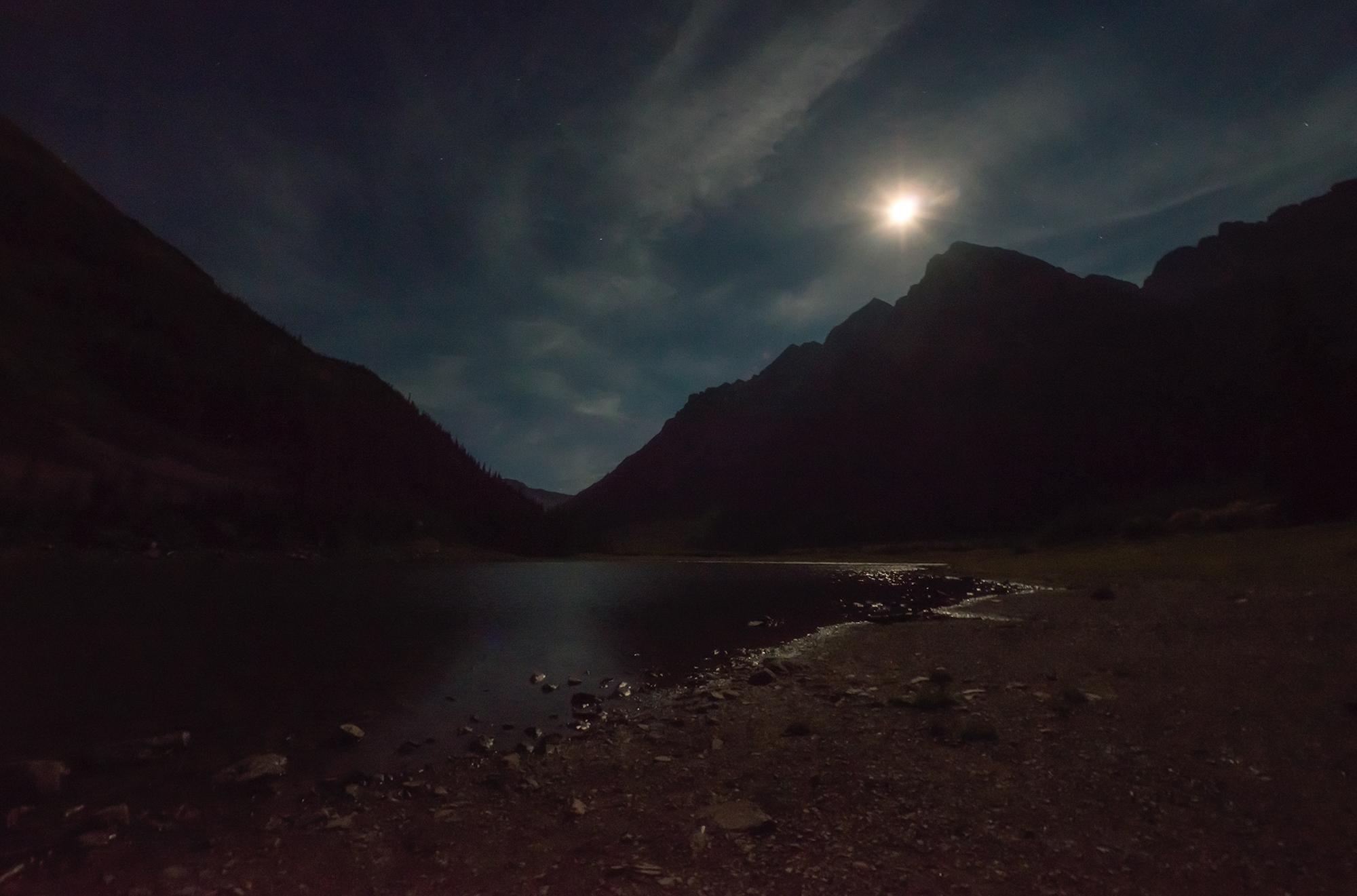 Moon at Crater Lake  Maroon Bells, Colorado, 2015 – The