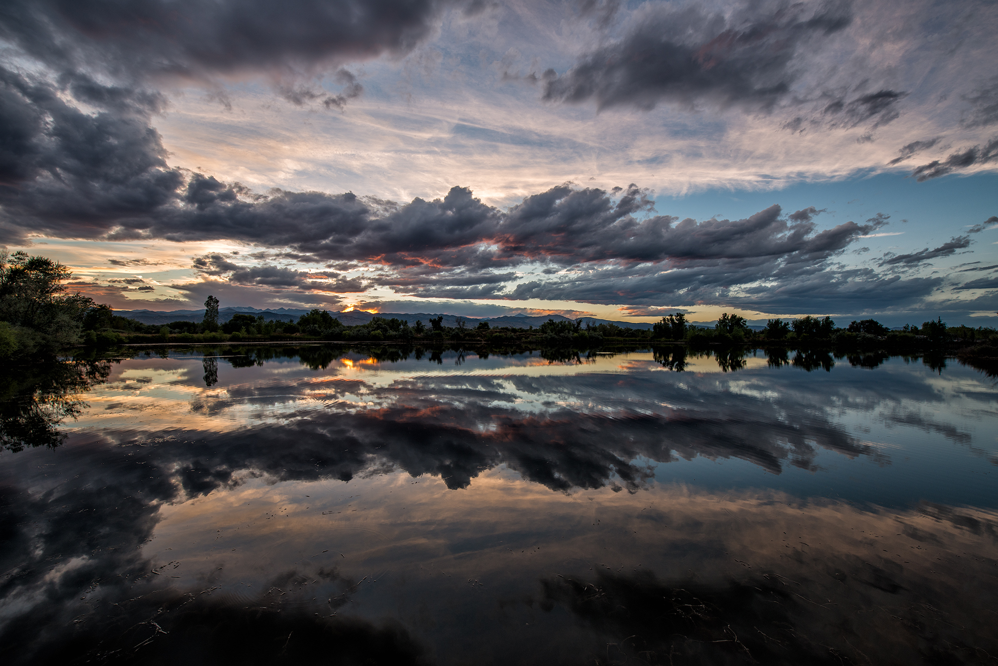 Sunset Reflection, #2. Sawhill Ponds, Colorado, 2015