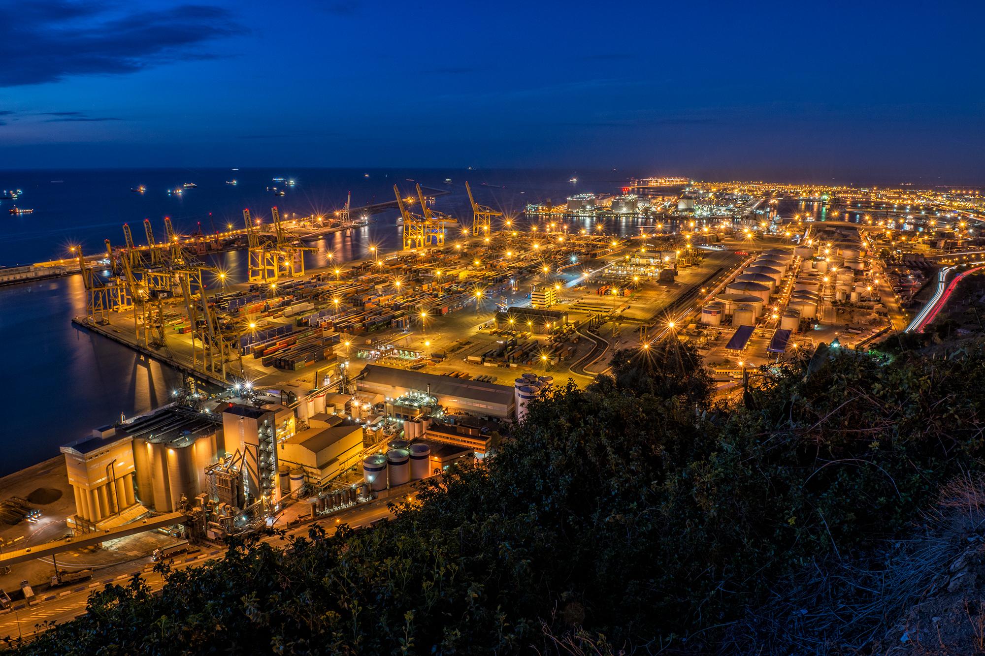 Industrial Port. Barcelona, 2015