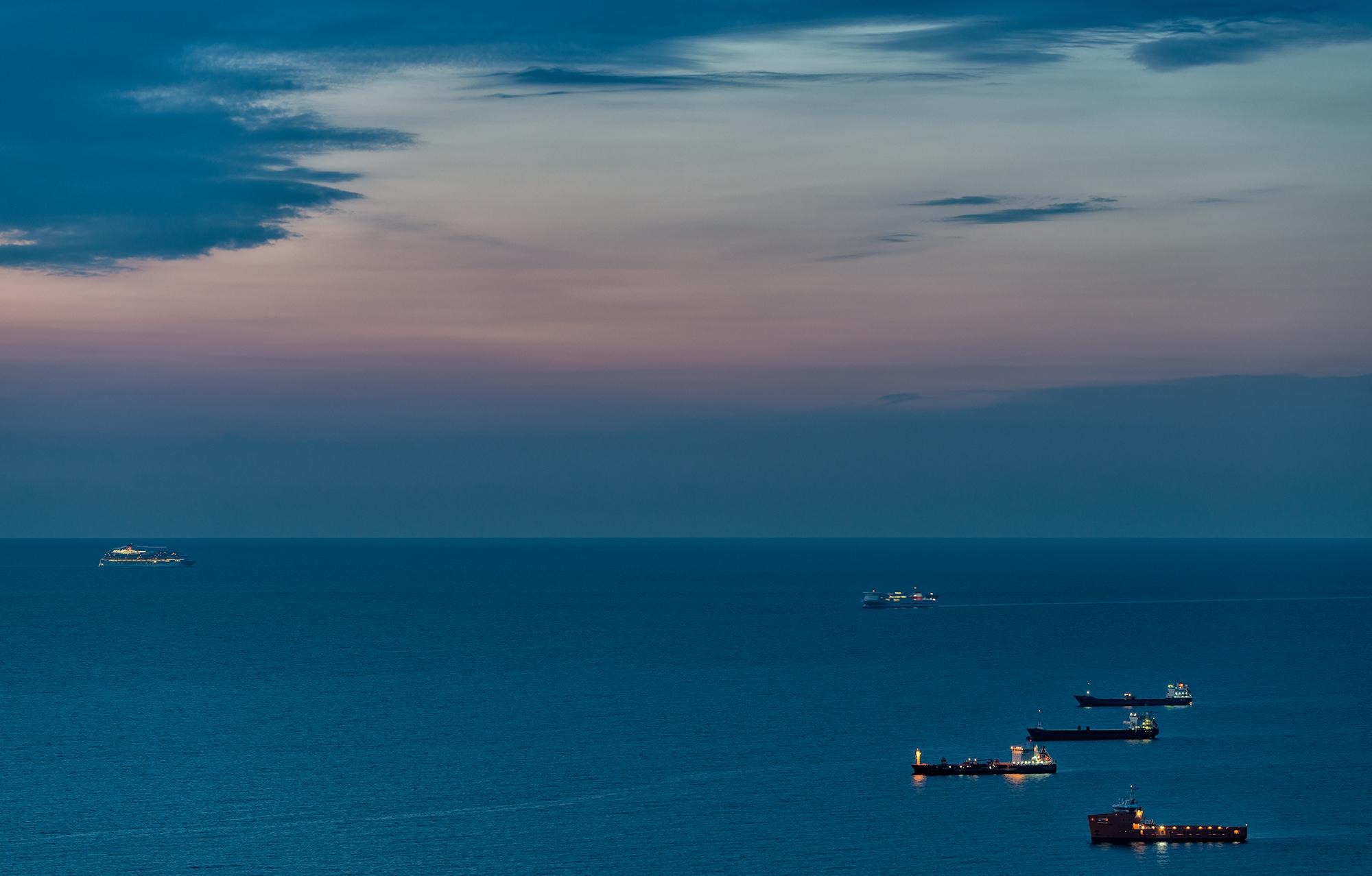 Awaiting Port Call. Barcelona, 2015