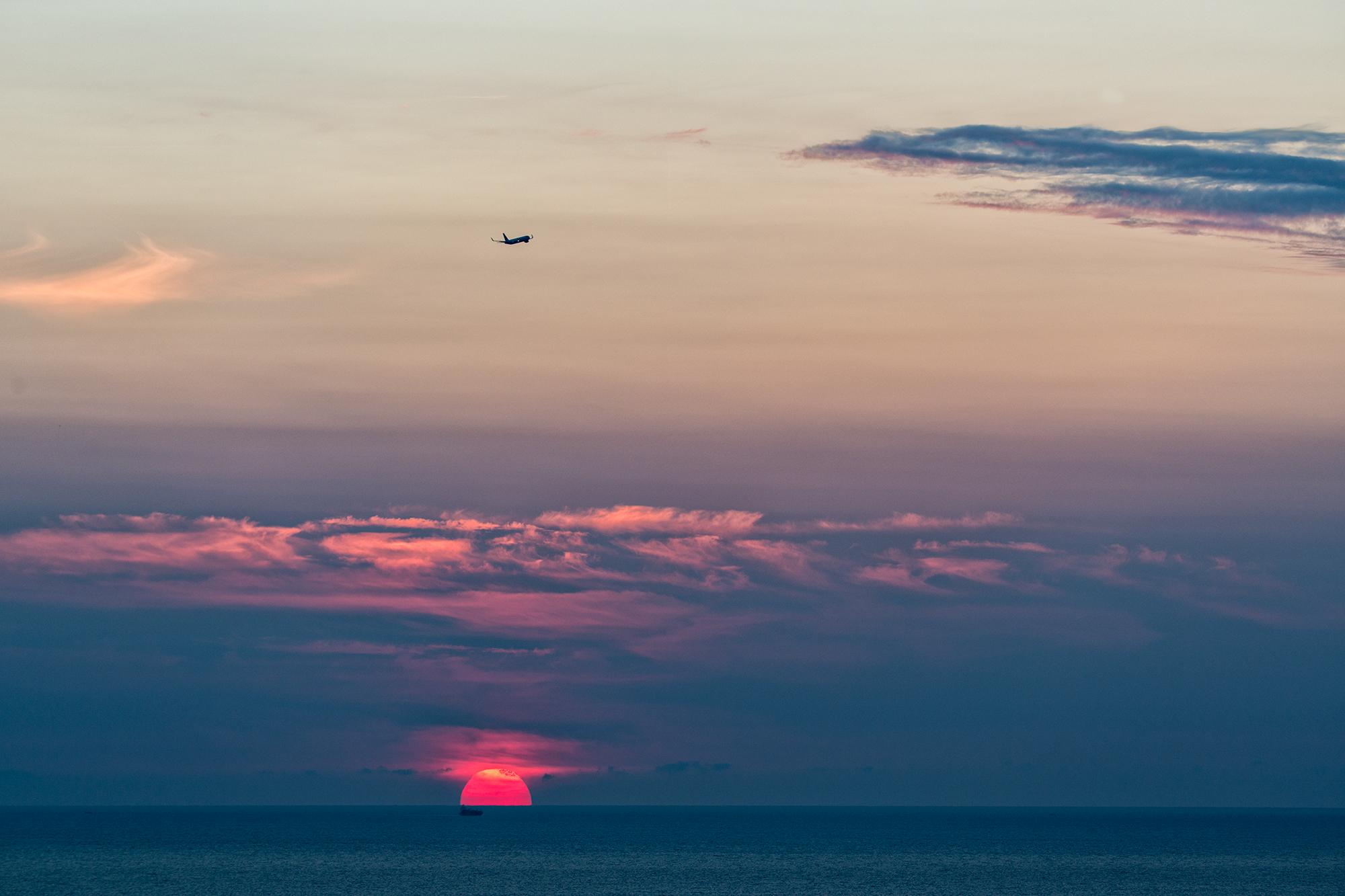 Sunrise Arrival. Barcelona, 2015