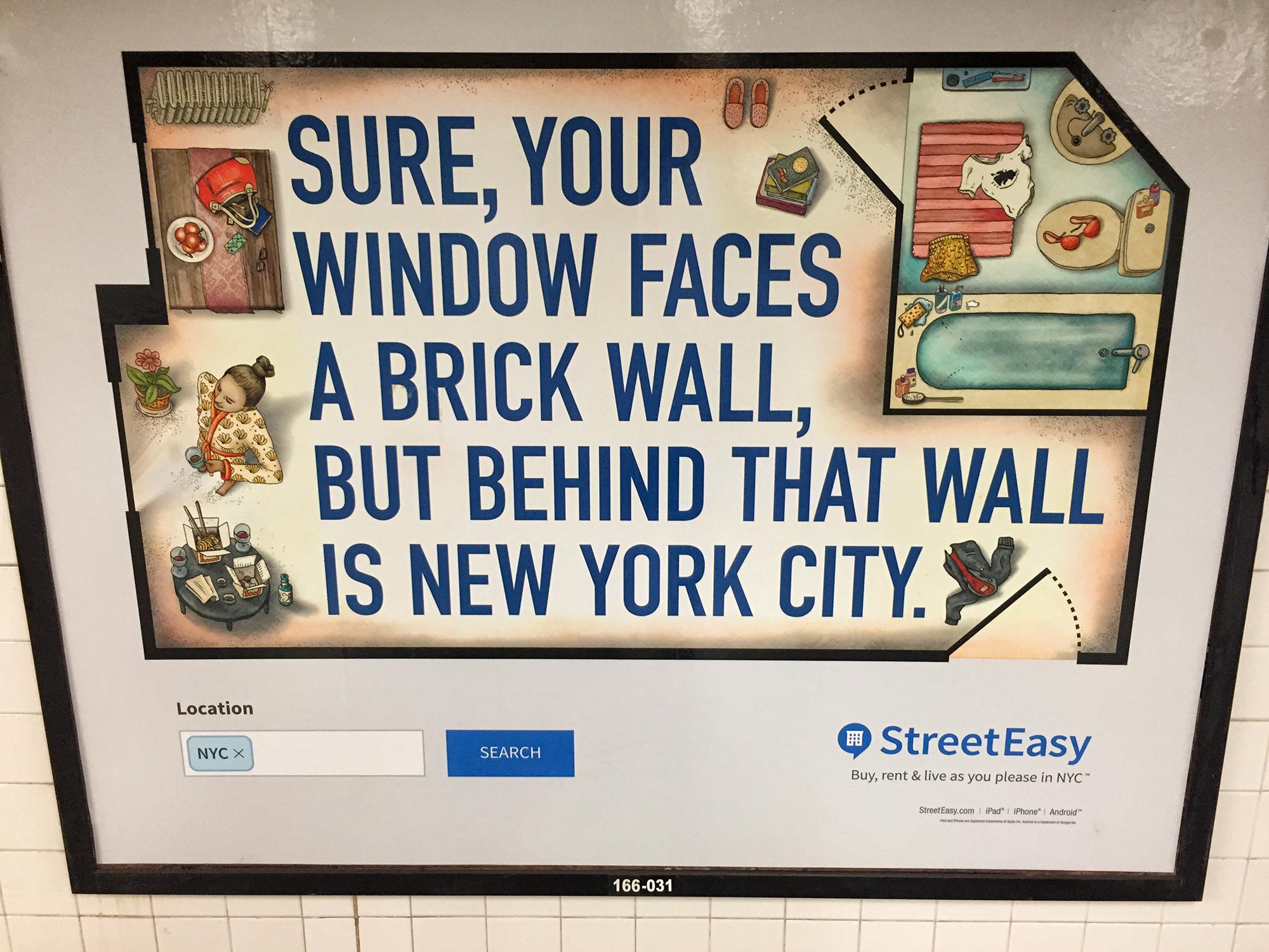 StreetEasy Ad, #4. NYC, 2015