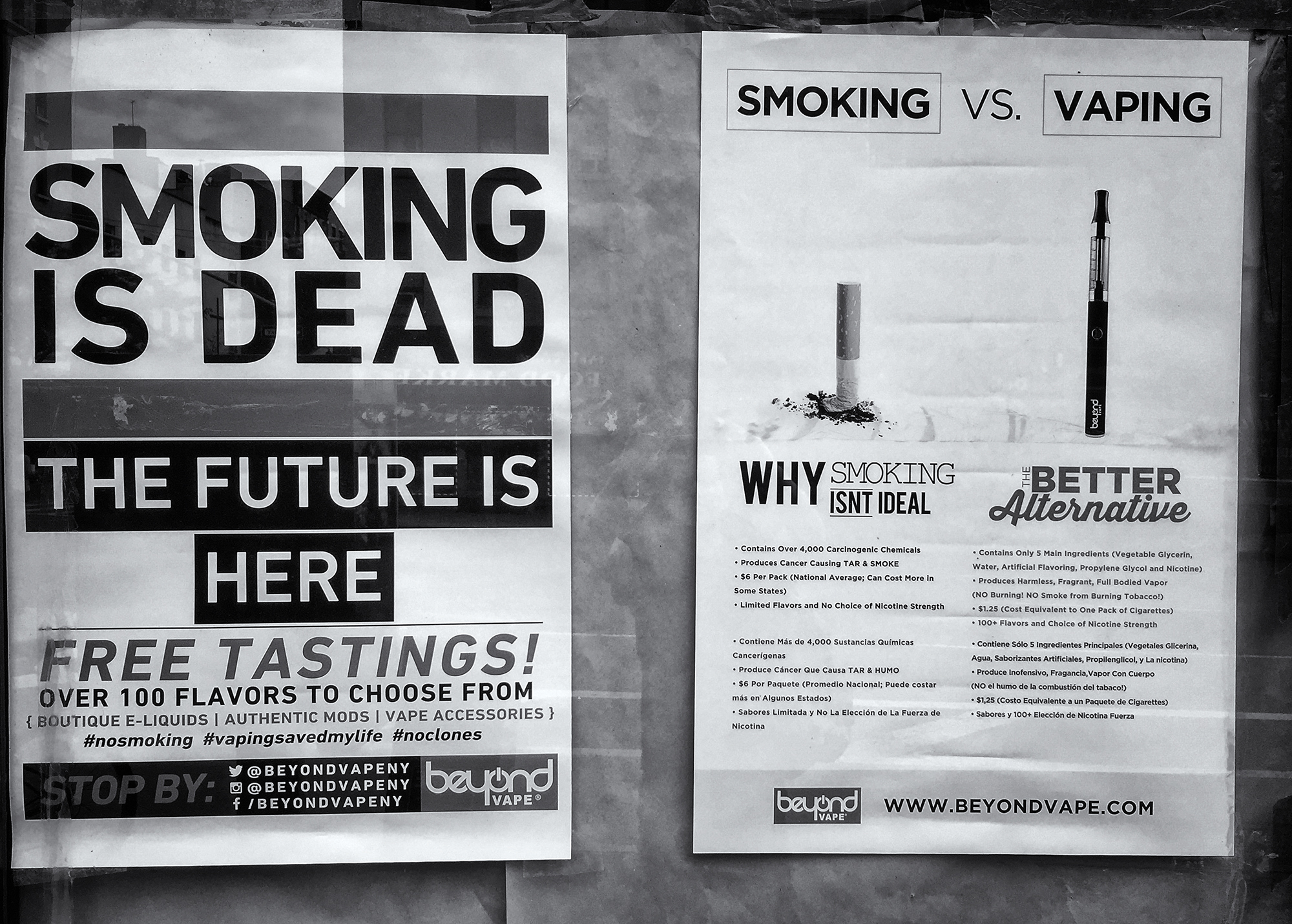 Smoking vs Vaping. NYC, 2015