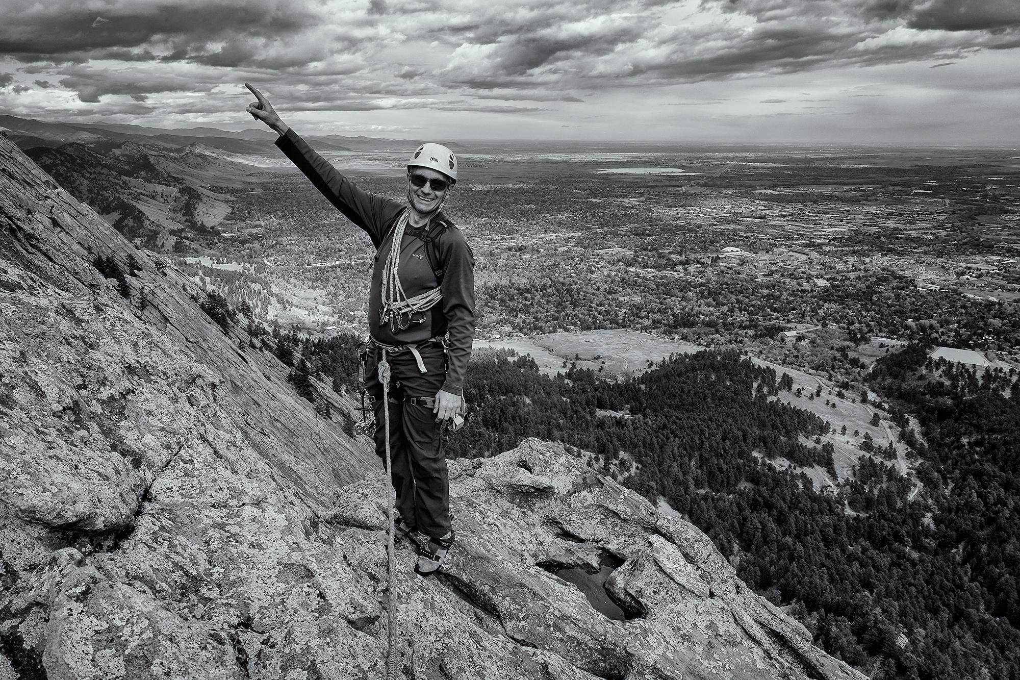 Onward and Upward. Gary, on the Third Flatiron, Boulder, Colorado, 2015