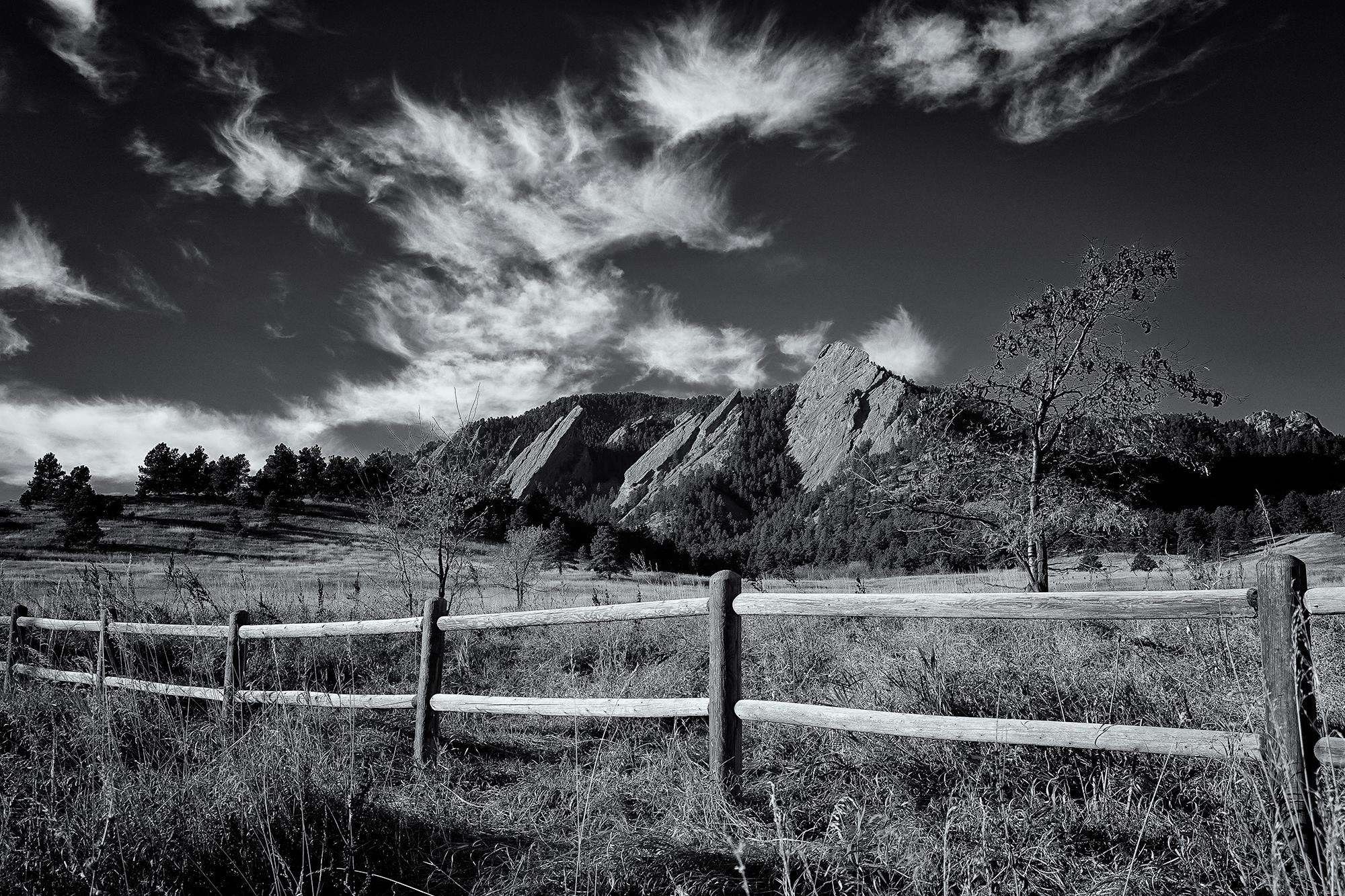 The Flatirons Under a Cirrus Sky. Boulder, Colorado, November 9, 2015