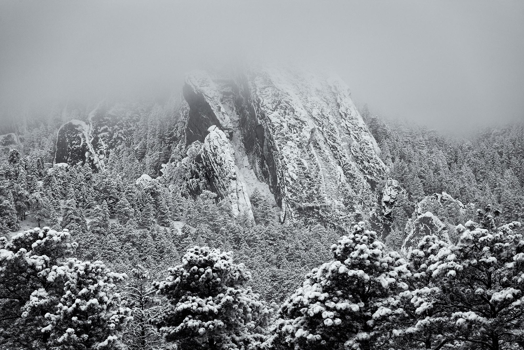 Third Flatiron, Winter Storm, #2. Boulder, Colorado, 2015