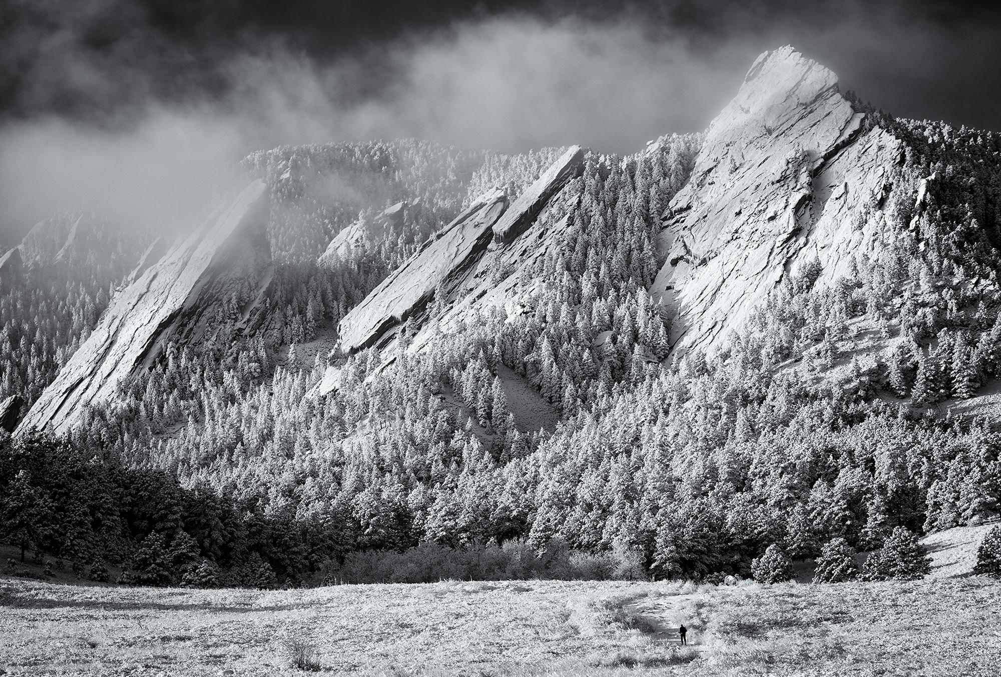 Winter Stroll, Flatirons. Boulder, Colorado, 2015