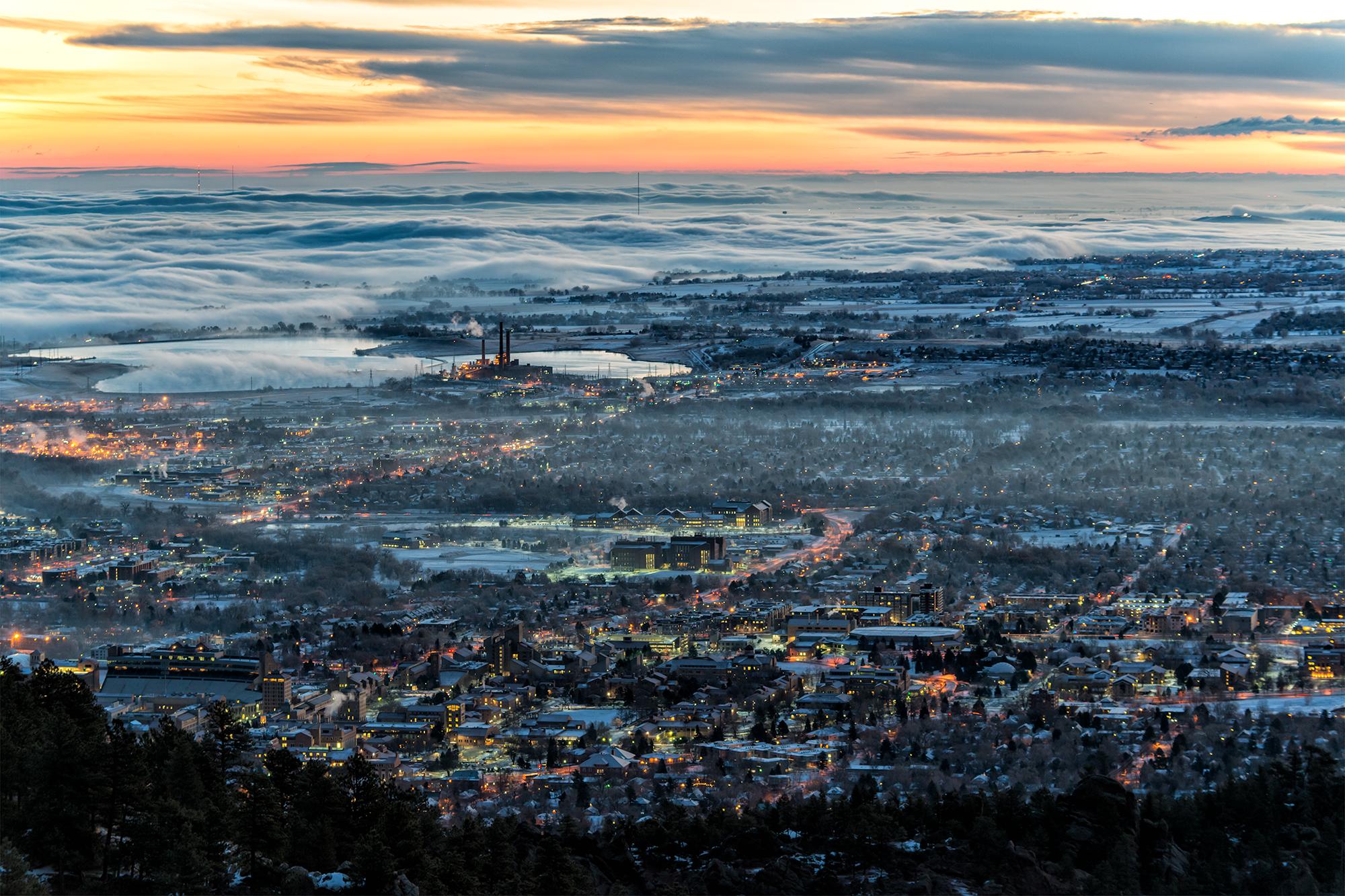 Winter Sunrise. Boulder, Colorado, 2015