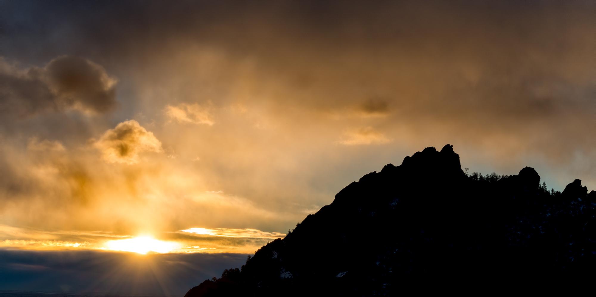 Sunrise, First Flatiron Profile. Boulder, Colorado, 2015