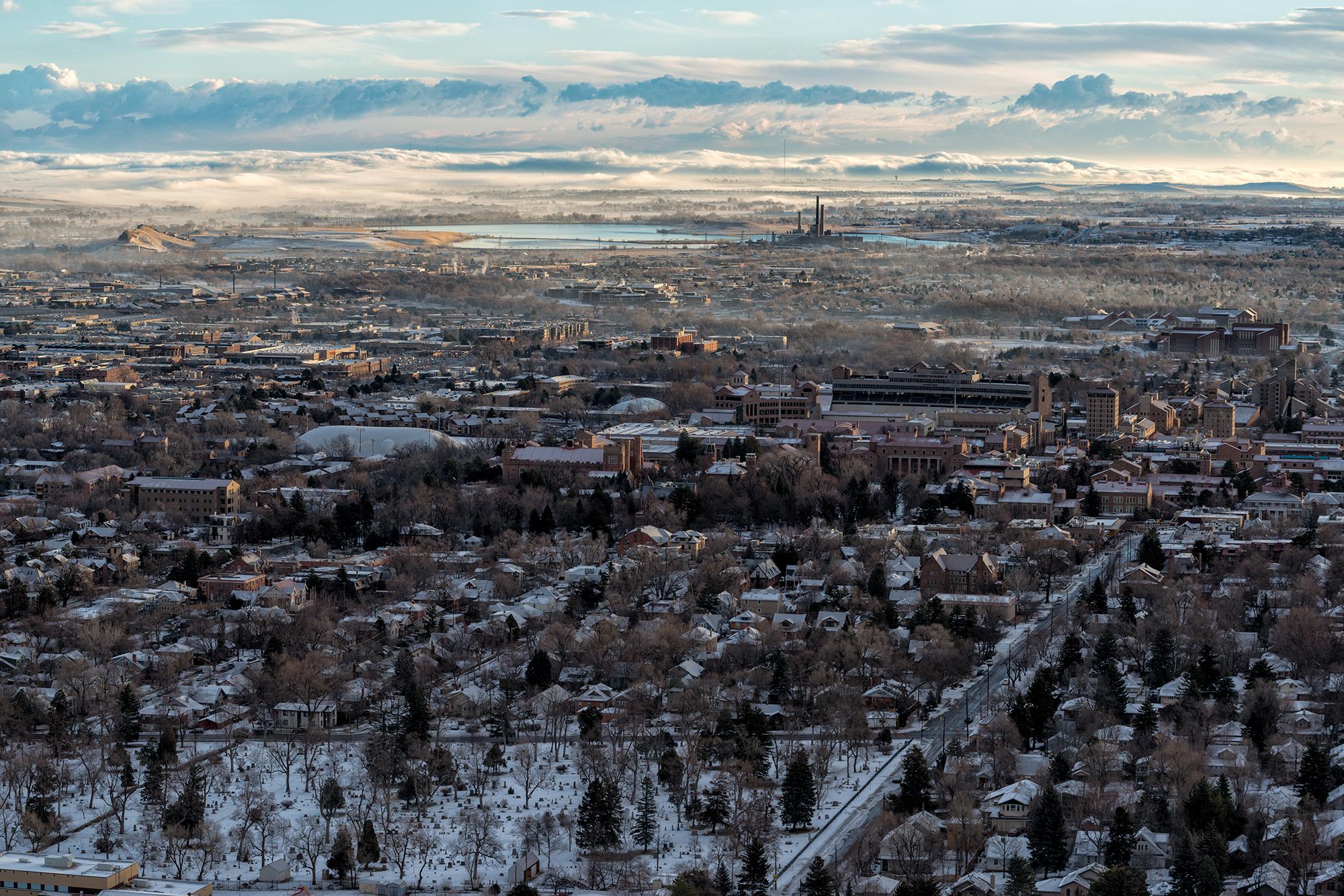 Receding Storm in Winter. Boulder, Colorado, 2015