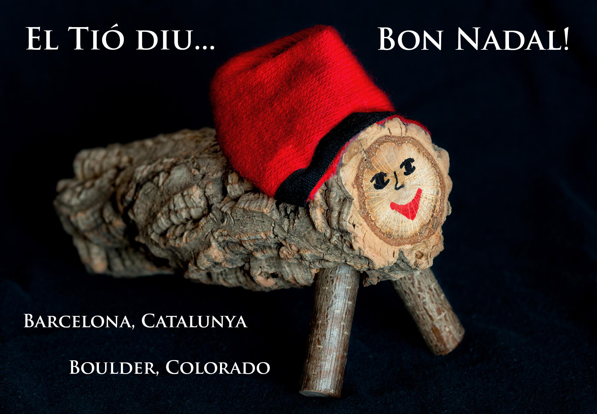 El Tió de Nadal. Boulder, Colorado, 2015