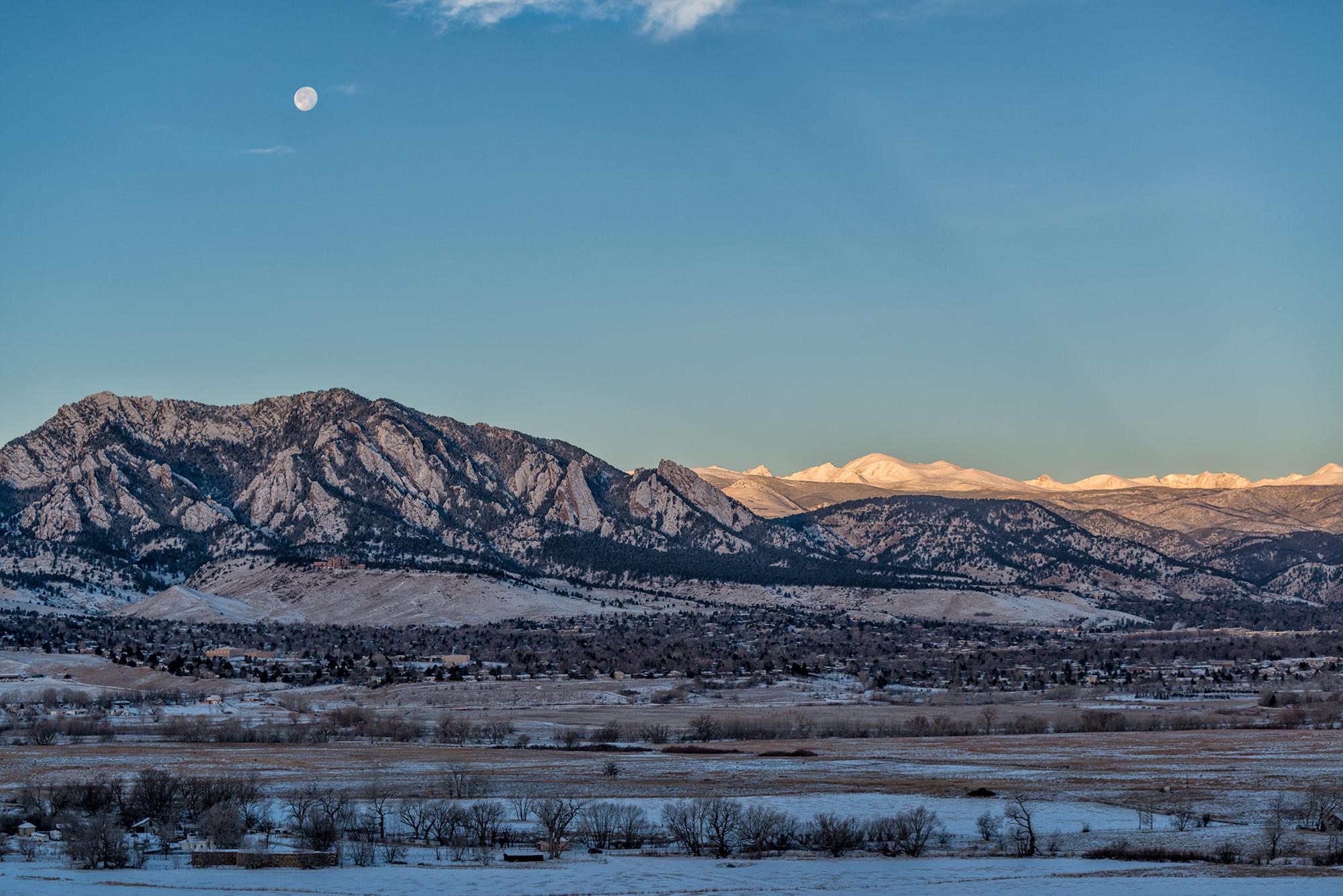 Moon Over Boulder. Boulder, Colorado, 2015