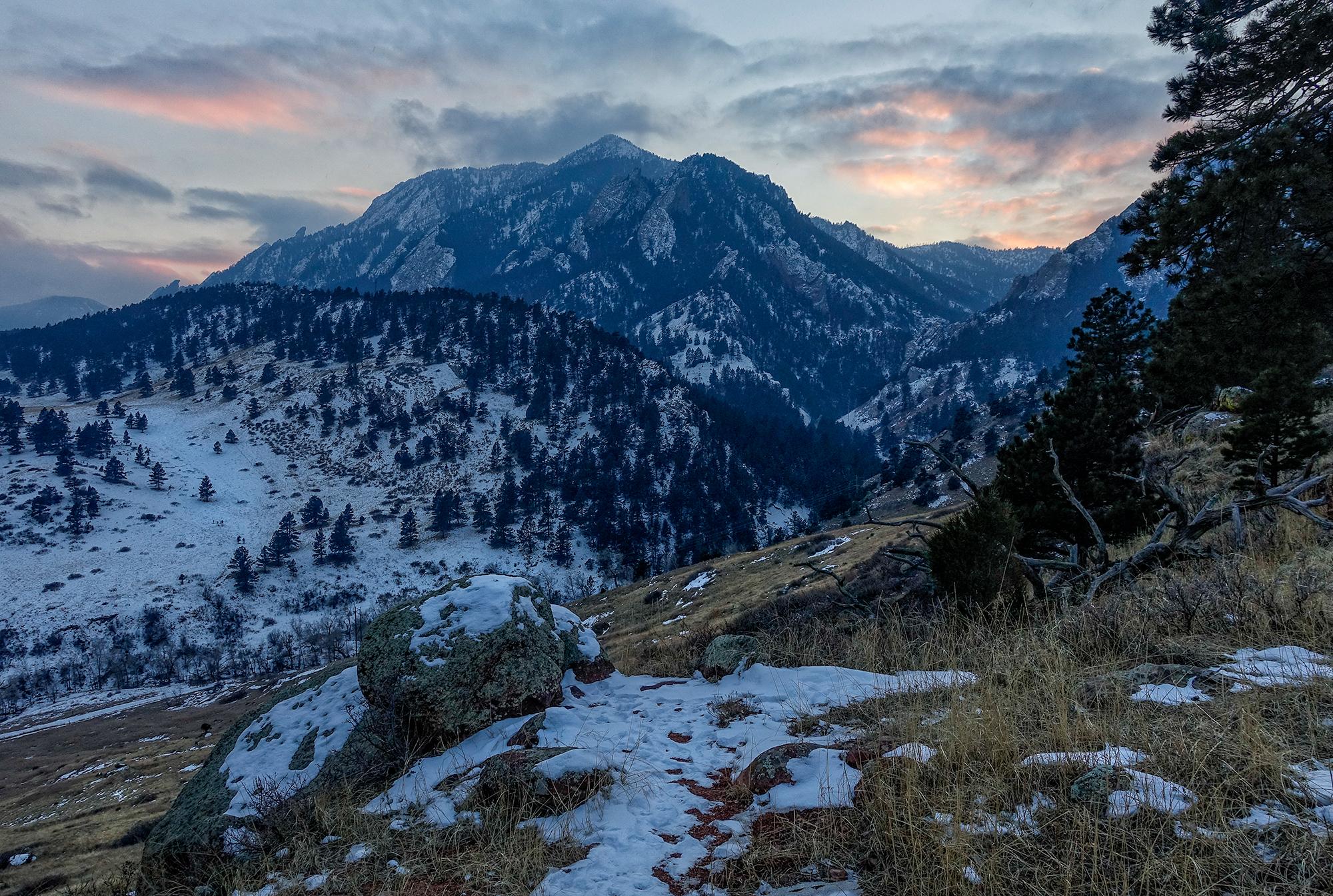 Last Sunset of 2015, Bear Mnt. Boulder, Colorado, 2015