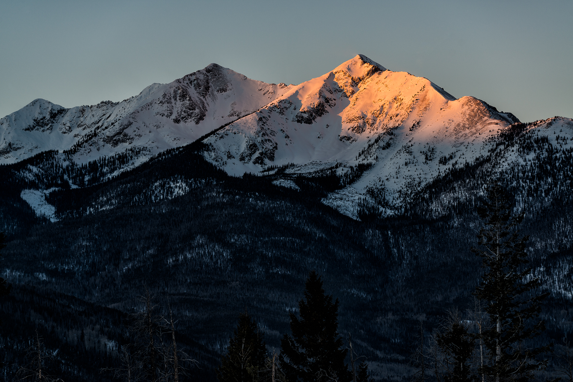 First Light on Tenmile Peak. Near Frisco, Colorado, 2016