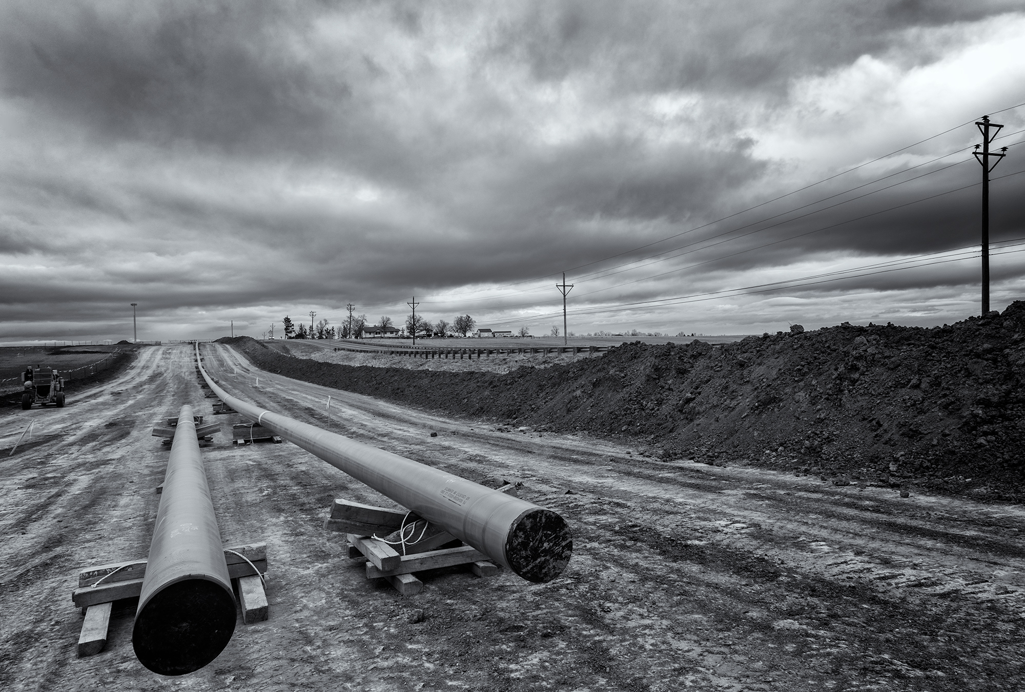 New Pipes, 95th St and Hwy 52. Weld County, Colorado, 2016