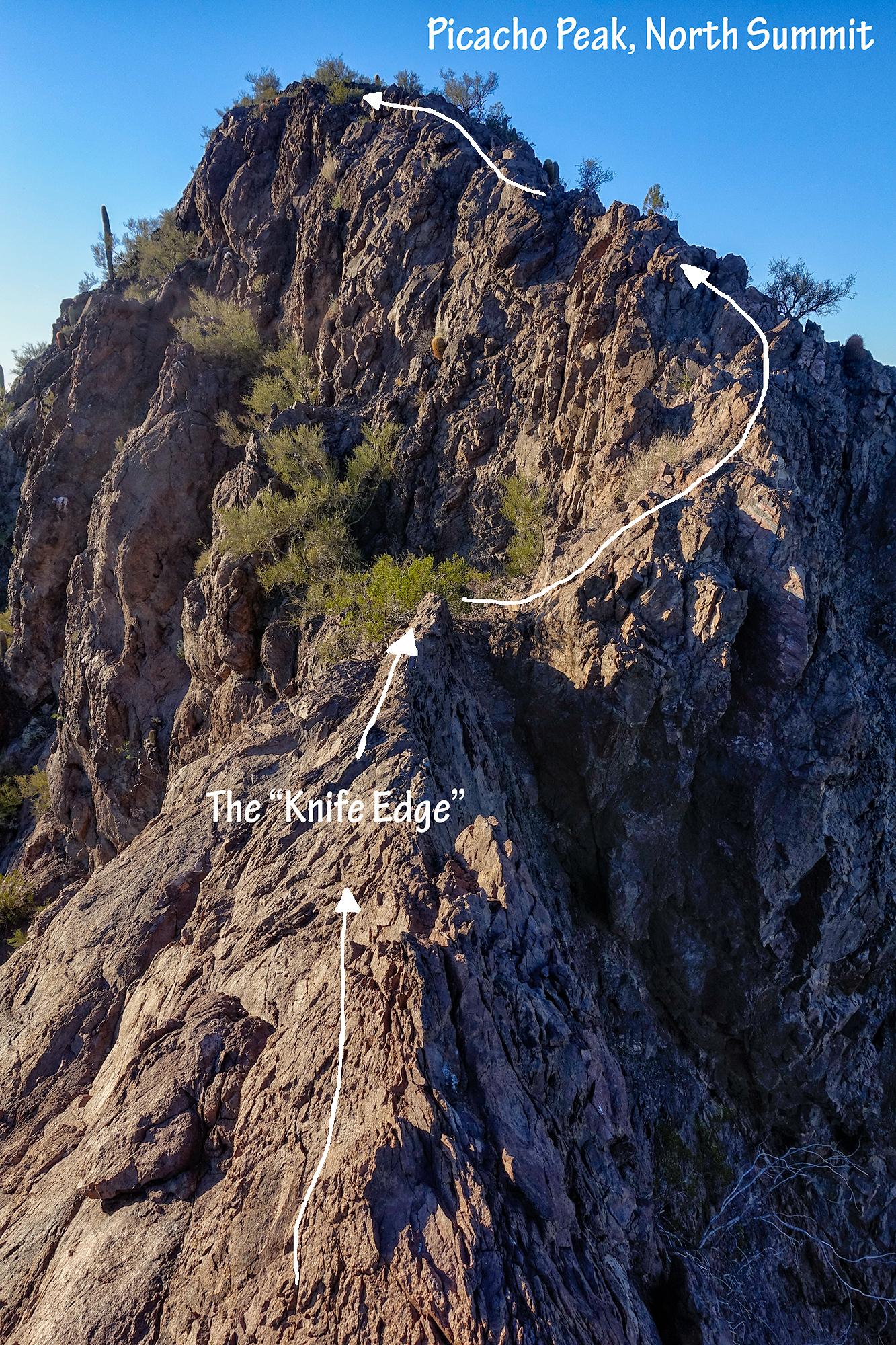 North Ridge, Final Section. Picacho Peak, Arizona, 2016