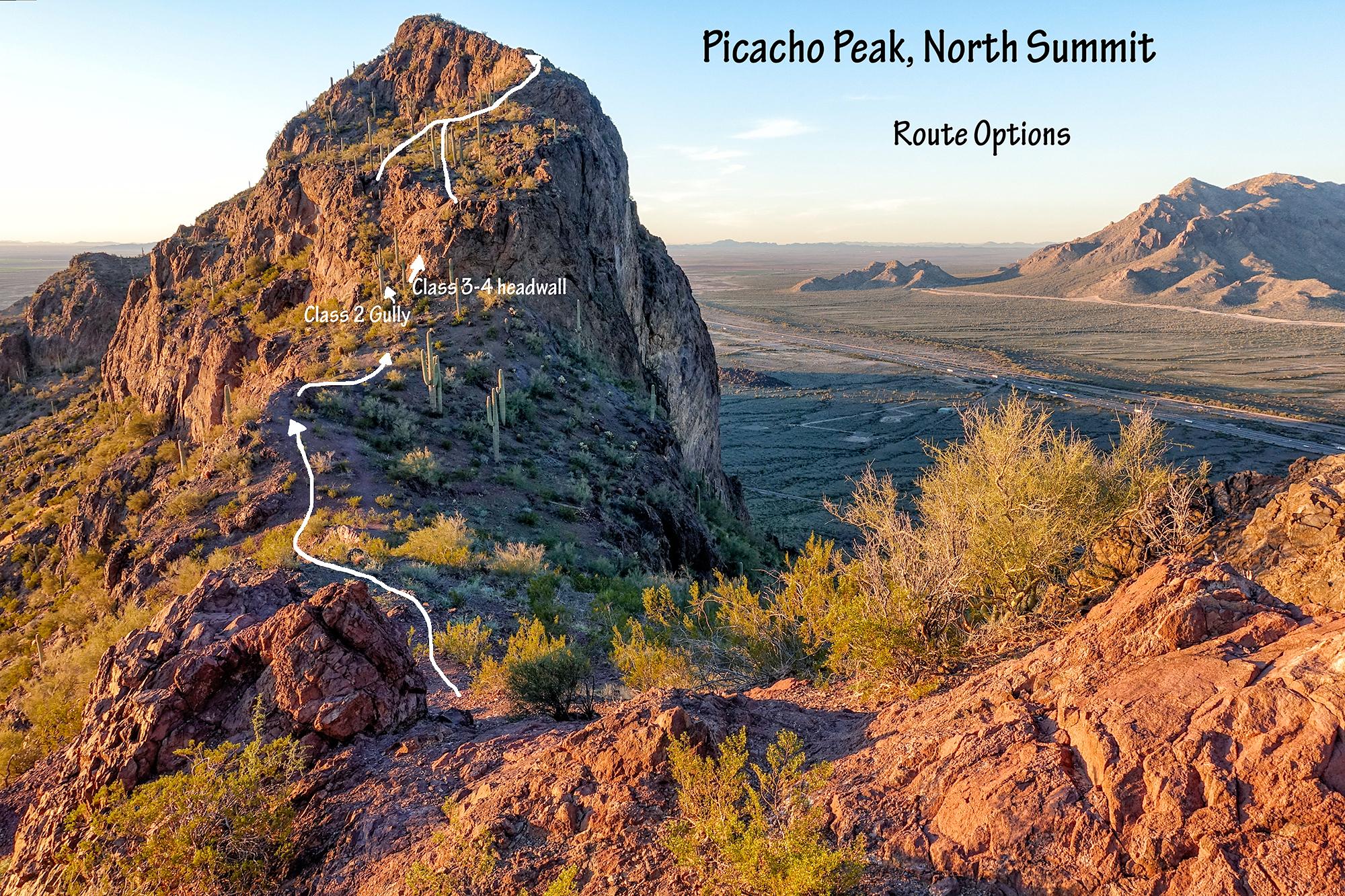 North Summit Route. Picacho Peak, Arizona, 2016