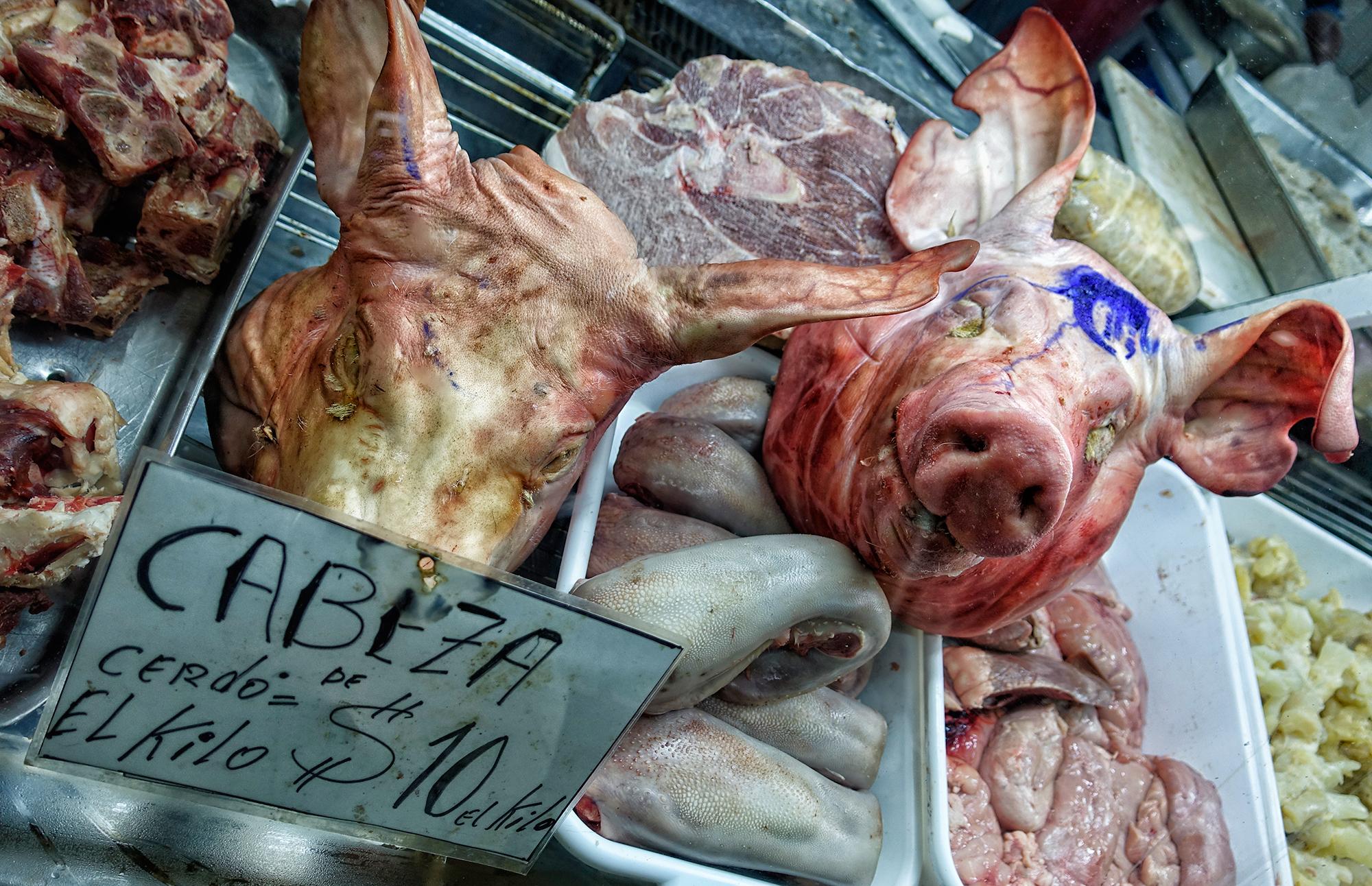 Pig's Heads for Soup! Mercado Central, Mendoza, Argentine, 2016