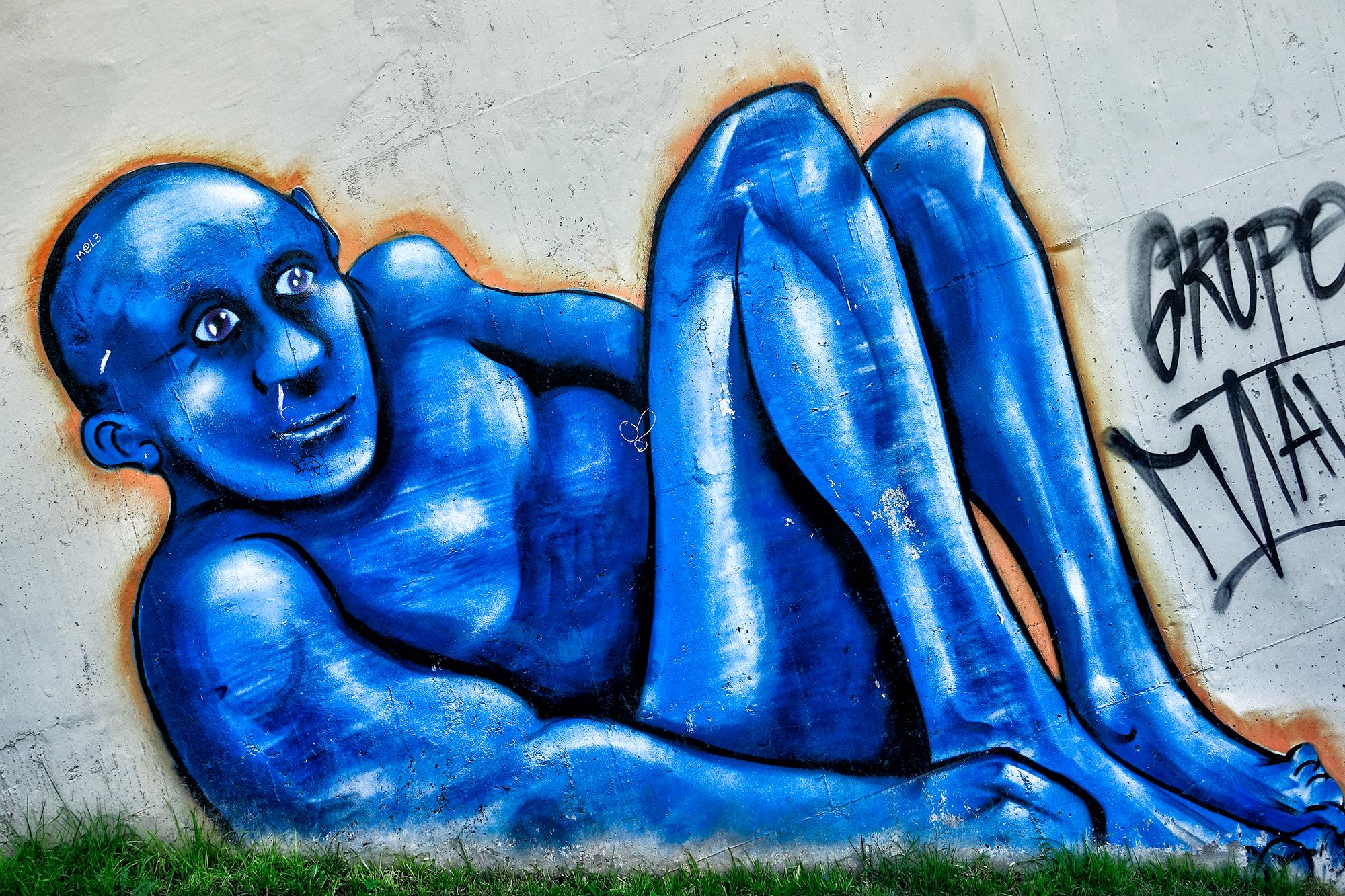 El Hombre Azul, Parque Central. Mendoza, Argentina, 2016