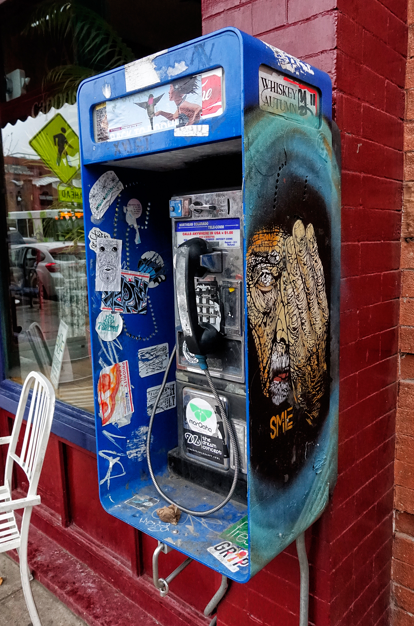 Pay Phone on Pearl Street. Boulder, Colorado, 2016