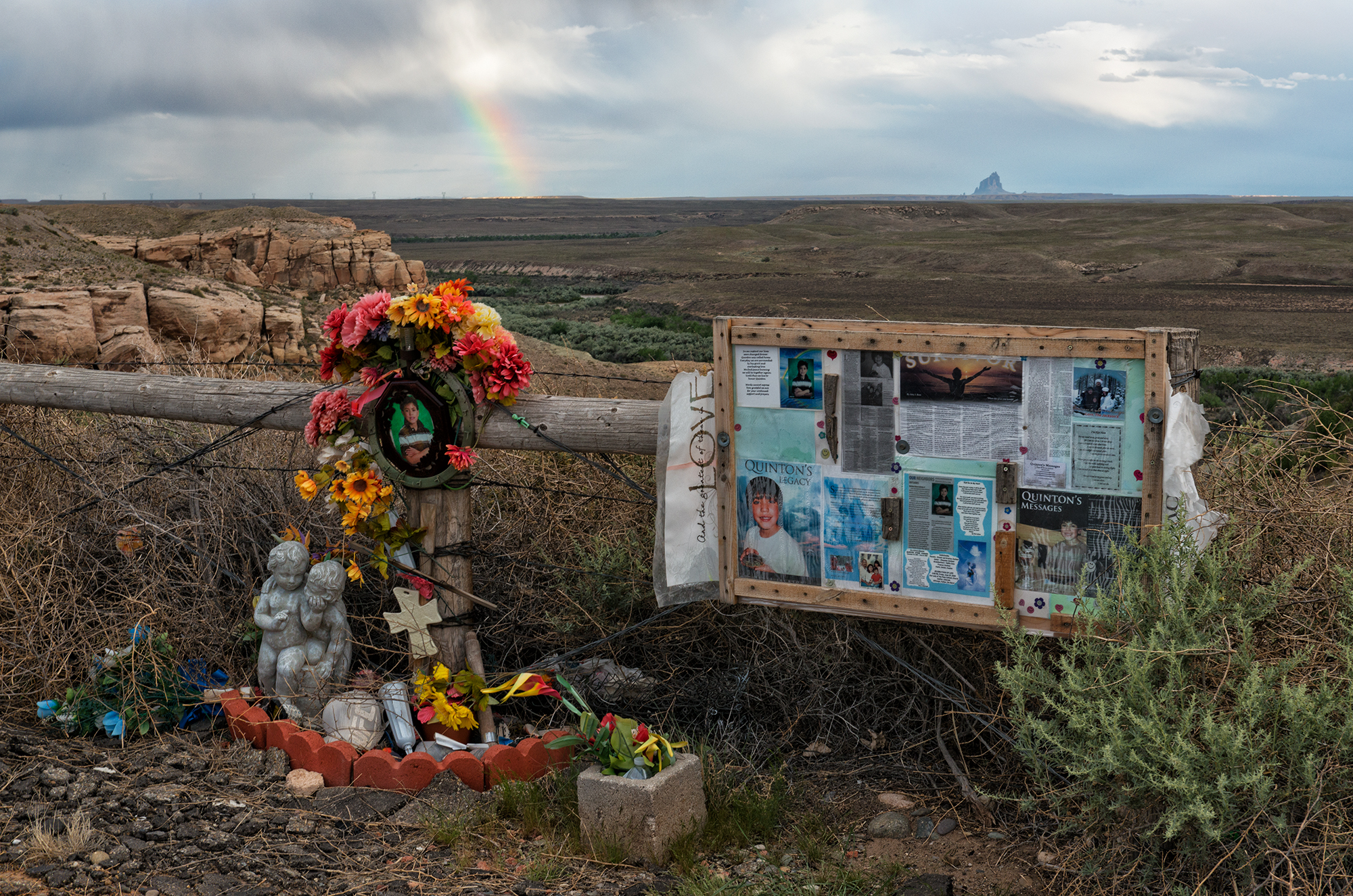 Quinton's Rainbow. Navajo Nation, Colorado, 2016